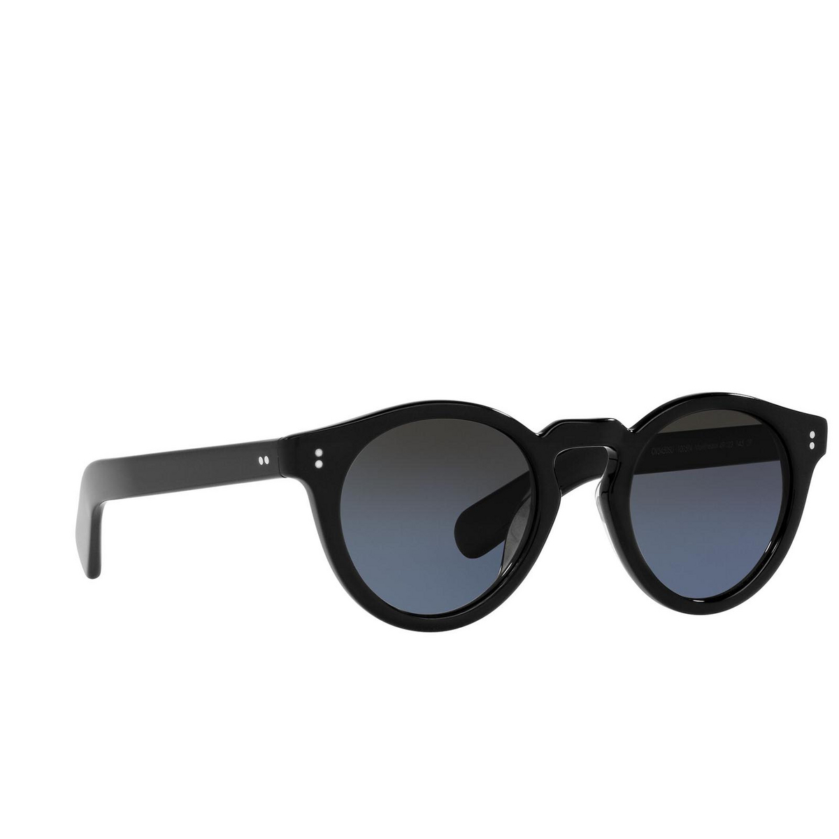 Oliver Peoples® Round Sunglasses: Martineaux OV5450SU color Black 1005P4 - three-quarters view.