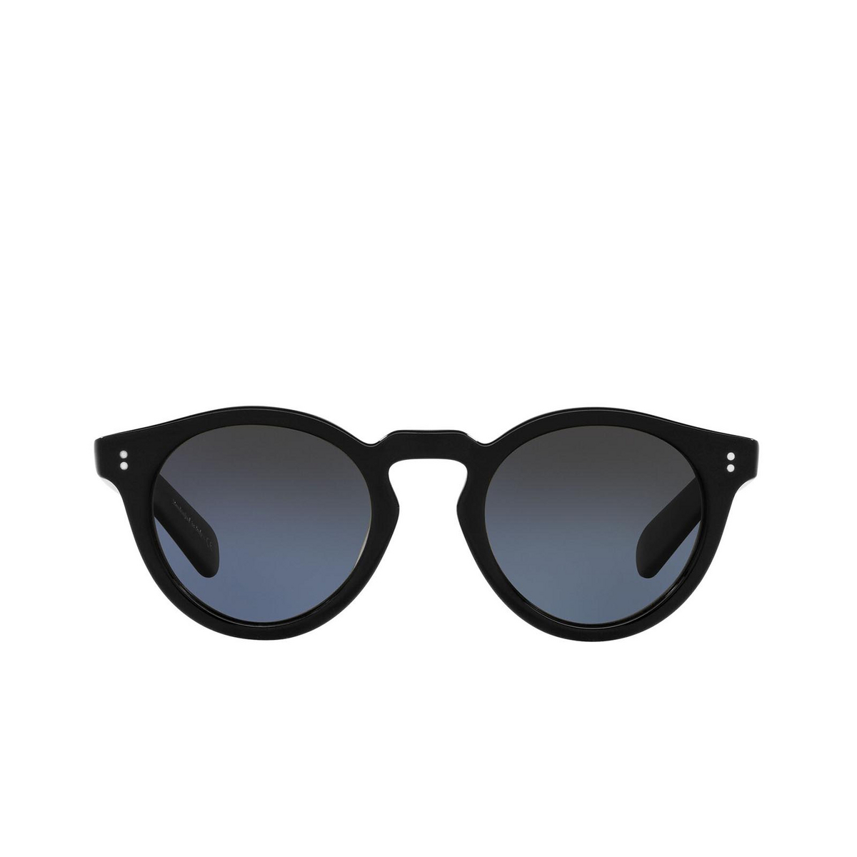 Oliver Peoples® Round Sunglasses: Martineaux OV5450SU color Black 1005P4 - front view.