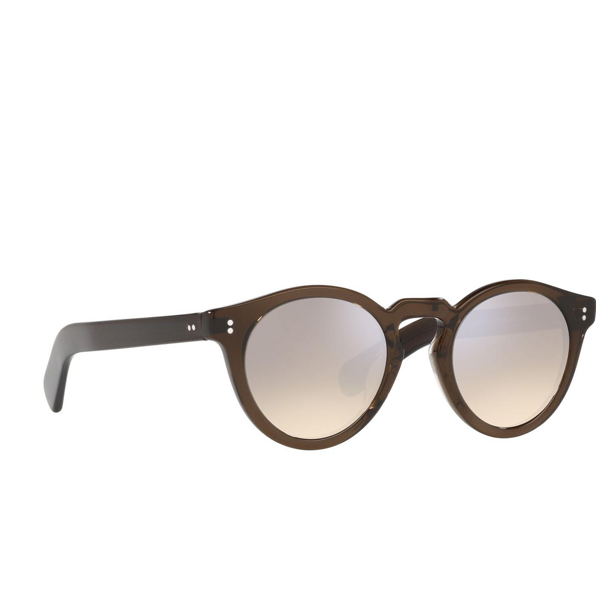 Oliver Peoples® Round Sunglasses: Martineaux OV5450SU color Espresso 162532 - three-quarters view.