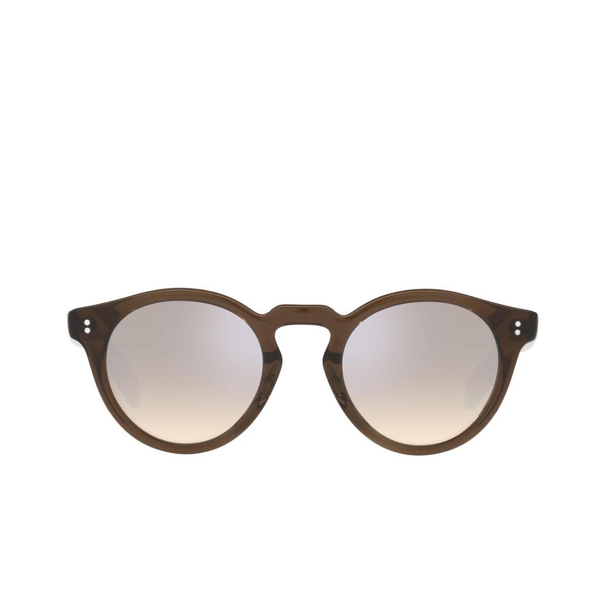 Oliver Peoples® Round Sunglasses: Martineaux OV5450SU color Espresso 162532 - front view.