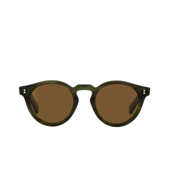 Oliver Peoples® Round Sunglasses: Martineaux OV5450SU color Emerald Bark 168053.