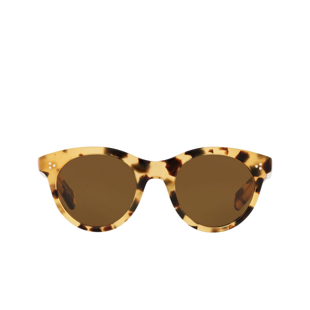 Oliver Peoples® Round Sunglasses: Merrivale OV5451SU color Ytb 170153 - front view.