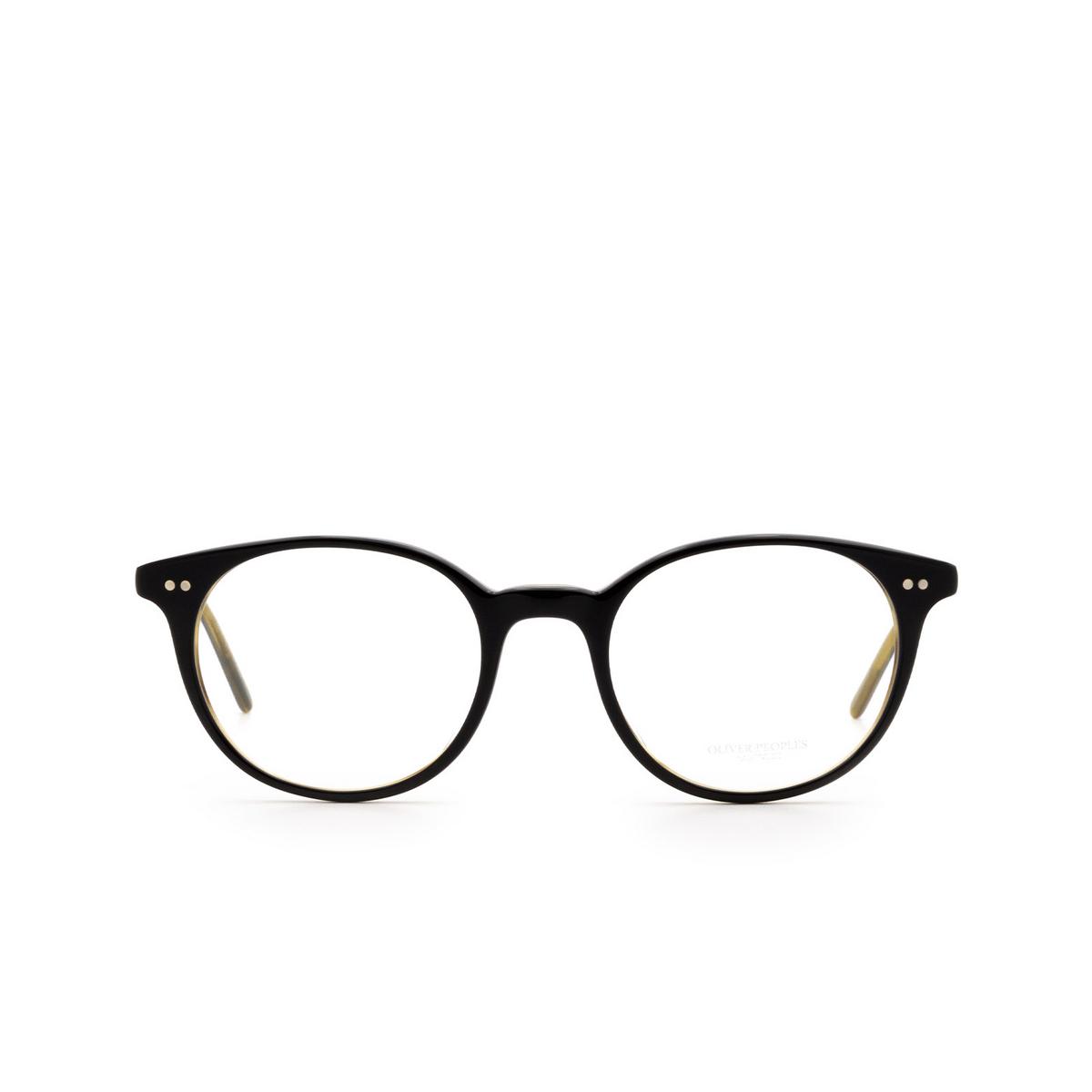 Oliver Peoples® Round Eyeglasses: Mikett OV5429U color Black / Olive Tortoise 1441.