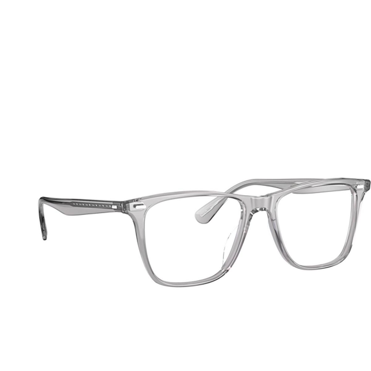 Oliver Peoples® Square Eyeglasses: Ollis OV5437U color Workman Grey 1132 - three-quarters view.