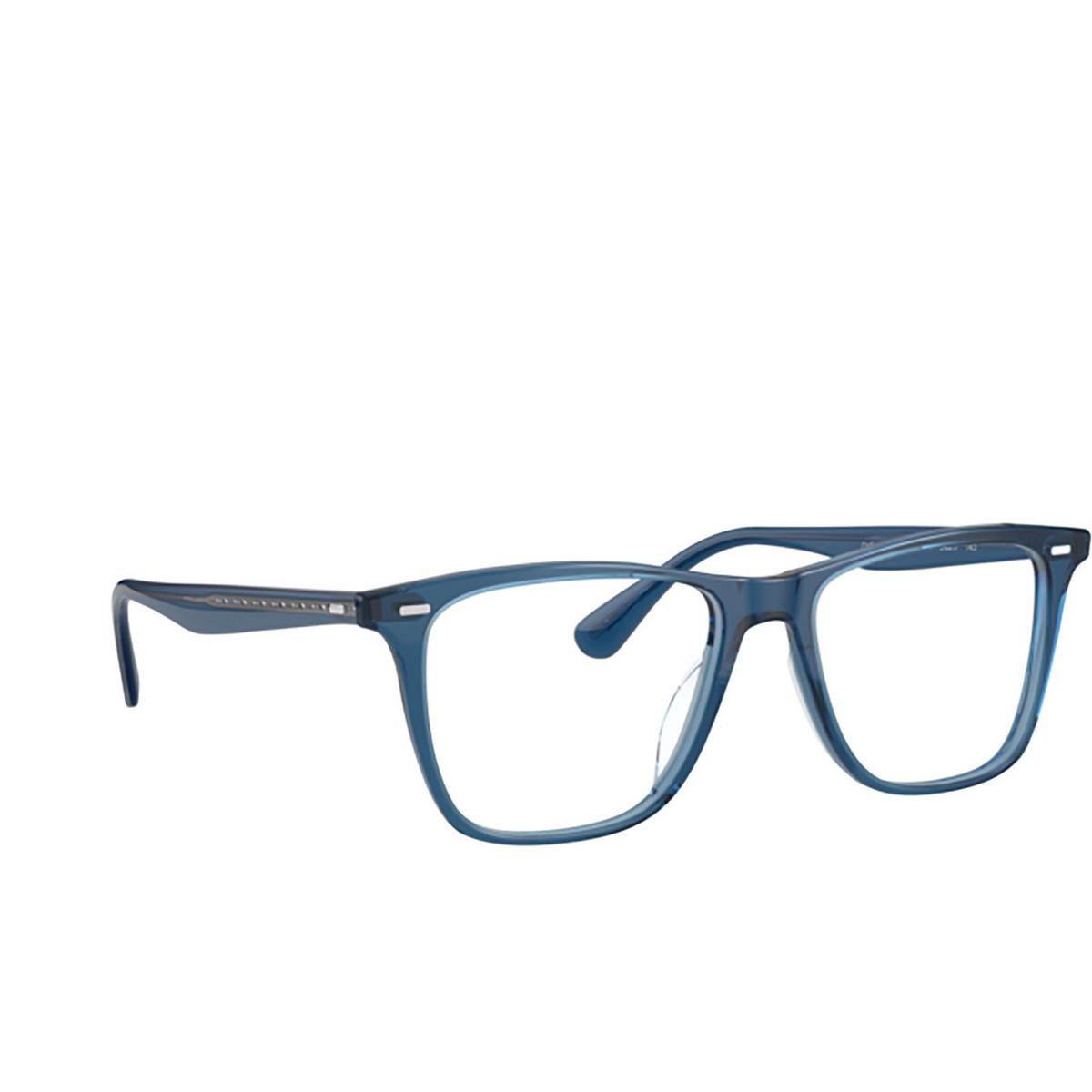 Oliver Peoples® Square Eyeglasses: Ollis OV5437U color Deep Blue 1670 - three-quarters view.