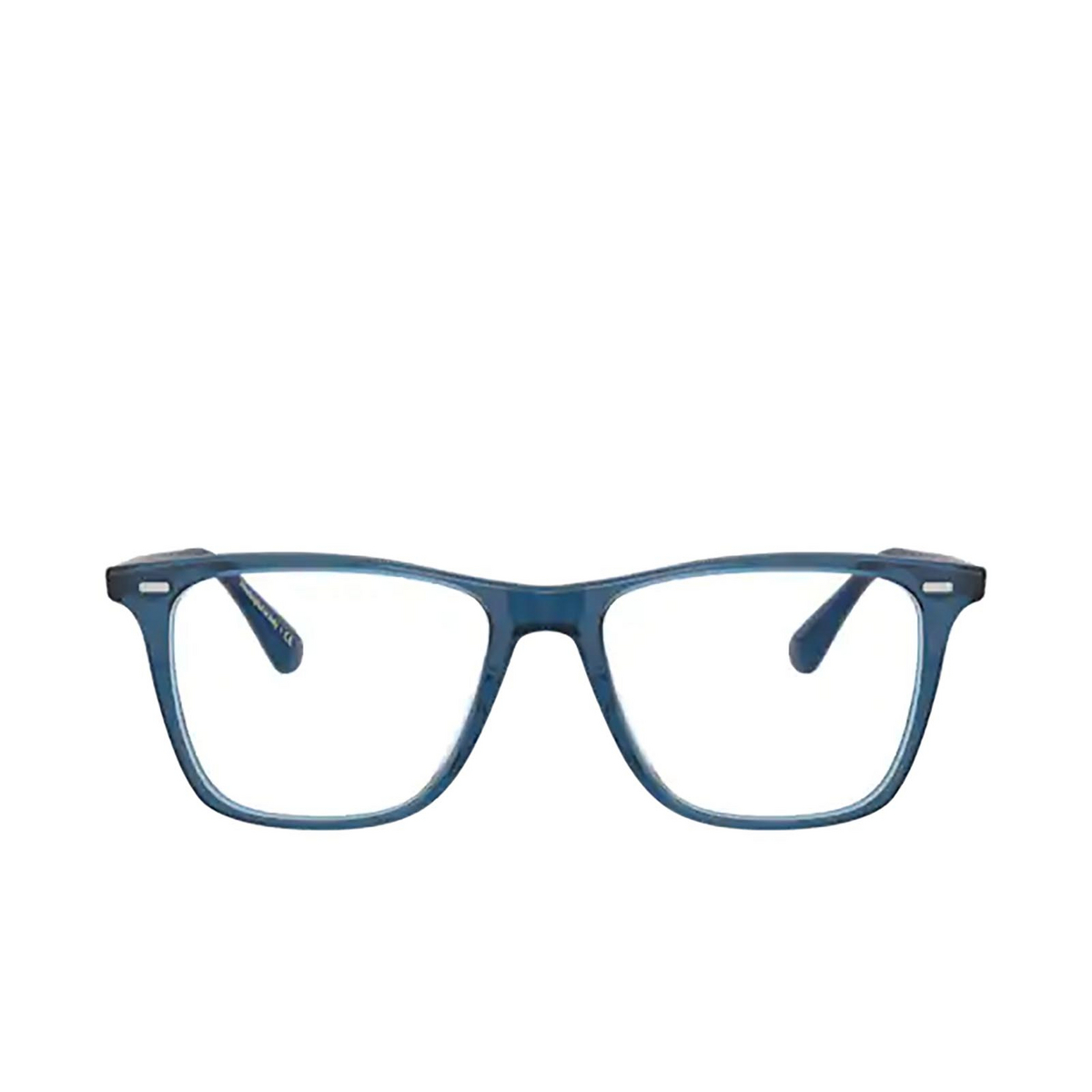 Oliver Peoples® Square Eyeglasses: Ollis OV5437U color Deep Blue 1670 - front view.