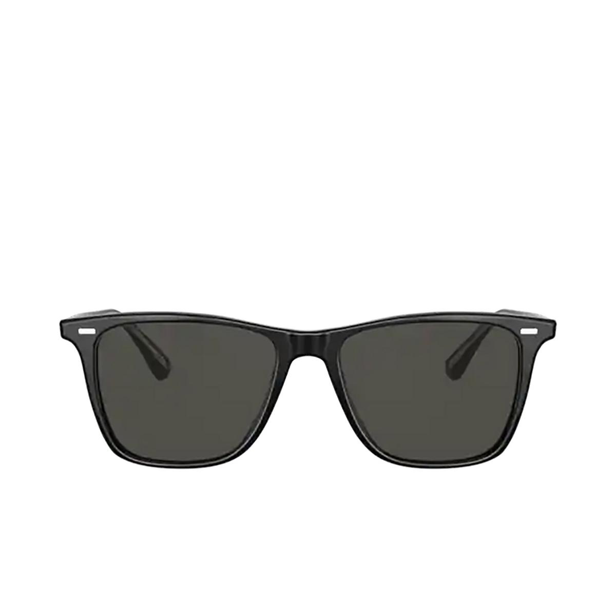 Oliver Peoples® Square Sunglasses: Ollis Sun OV5437SU color Black 1005P2.