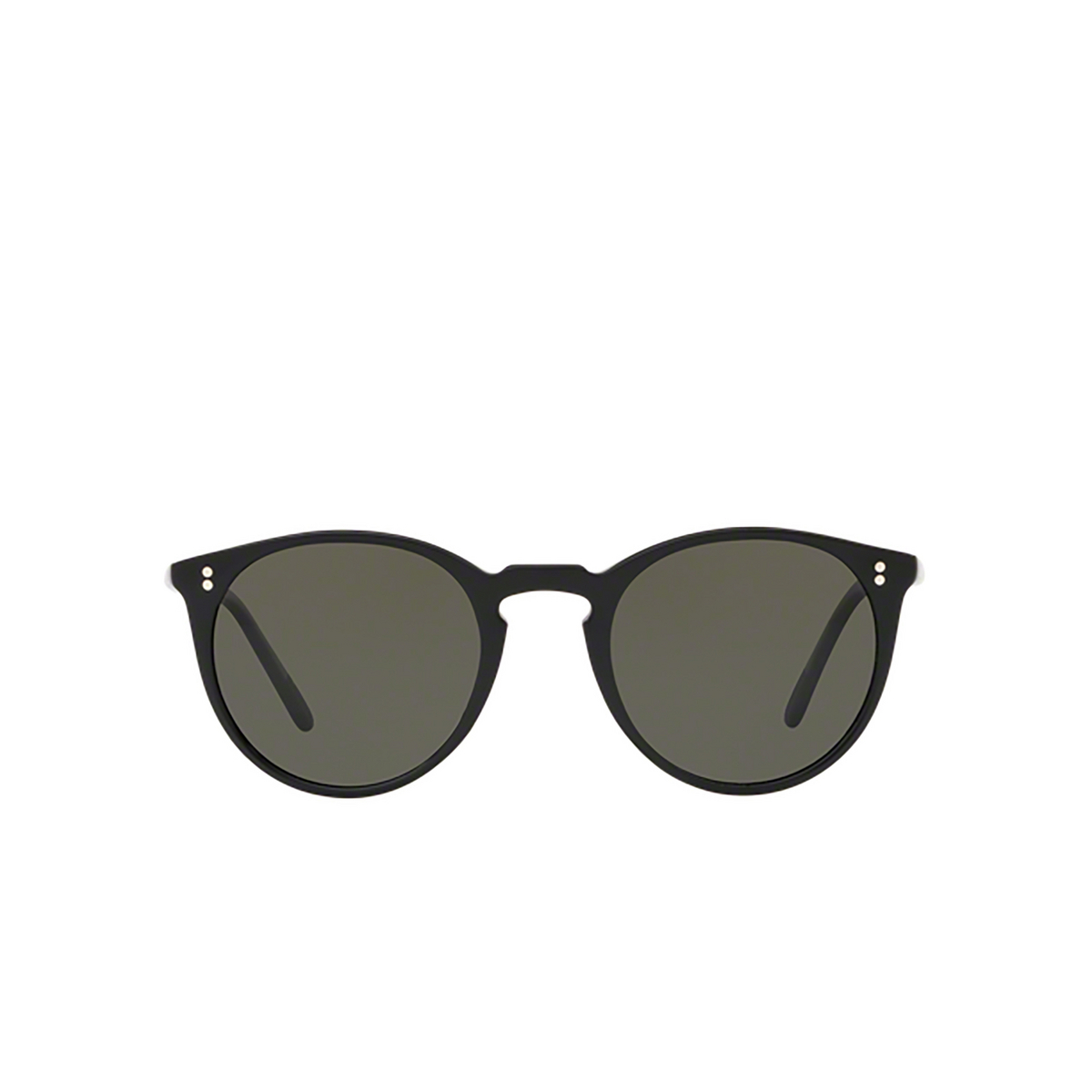 Oliver Peoples® Round Sunglasses: O'malley Sun OV5183S color Black 1005P1 - front view.