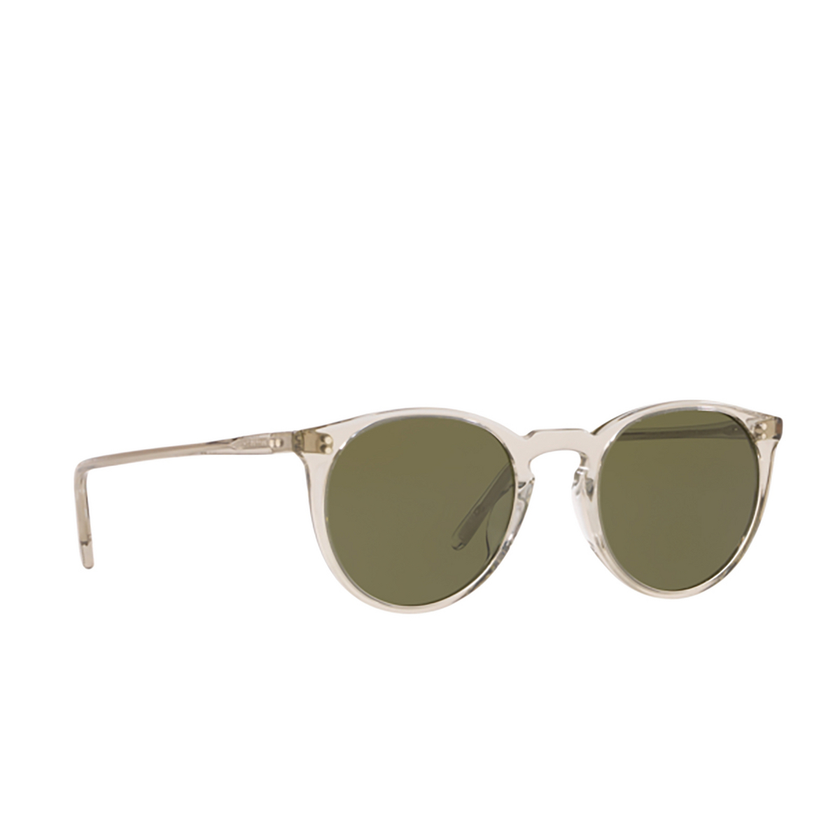 Oliver Peoples® Round Sunglasses: O'malley Sun OV5183S color Black Diamond 166952 - three-quarters view.
