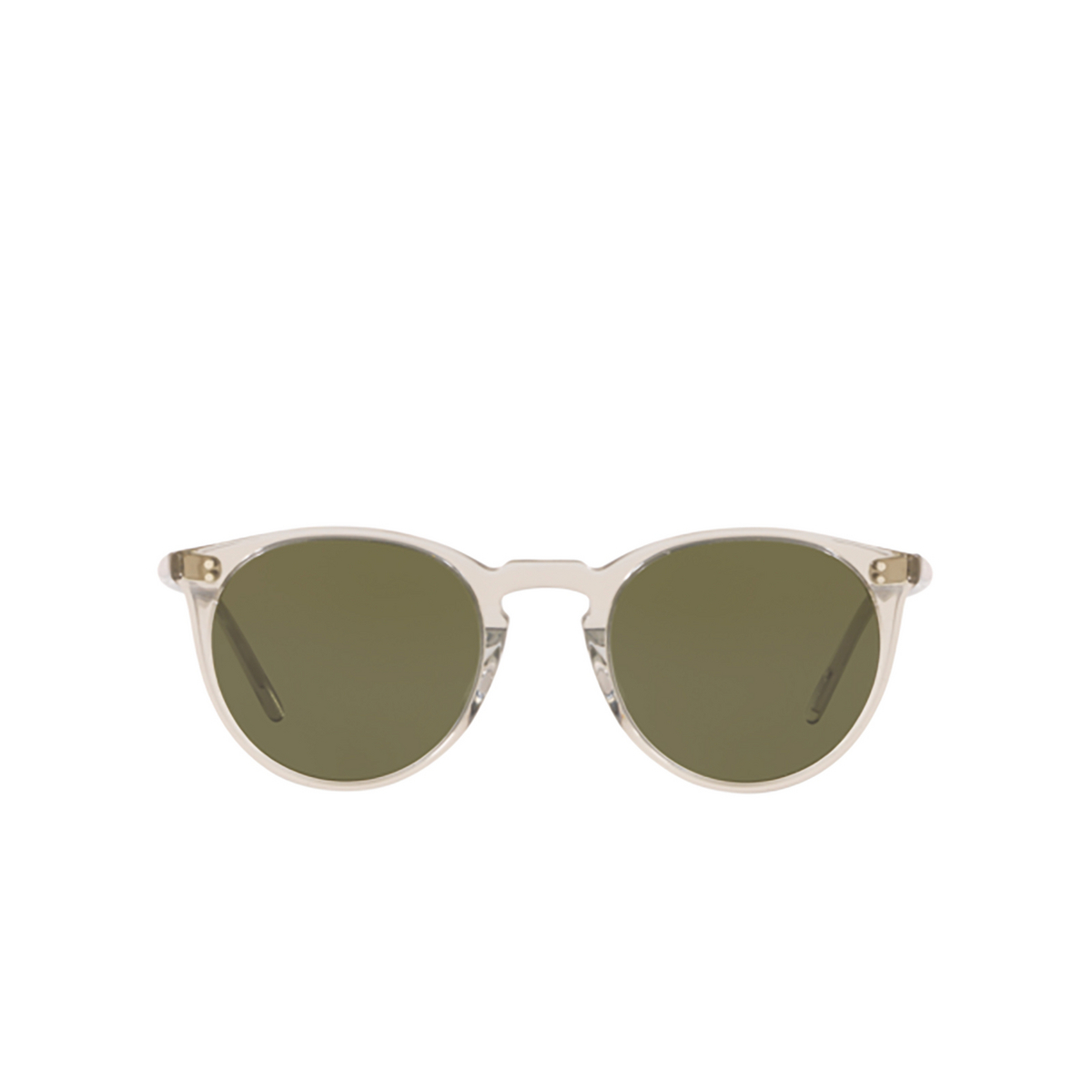 Oliver Peoples® Round Sunglasses: O'malley Sun OV5183S color Black Diamond 166952 - front view.