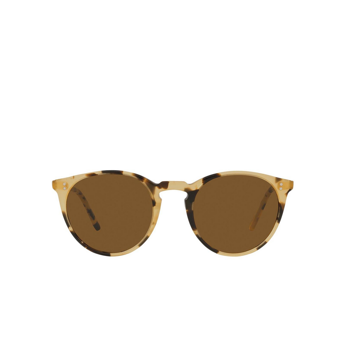 Oliver Peoples® Round Sunglasses: O'malley Sun OV5183S color Ytb 170153 - front view.