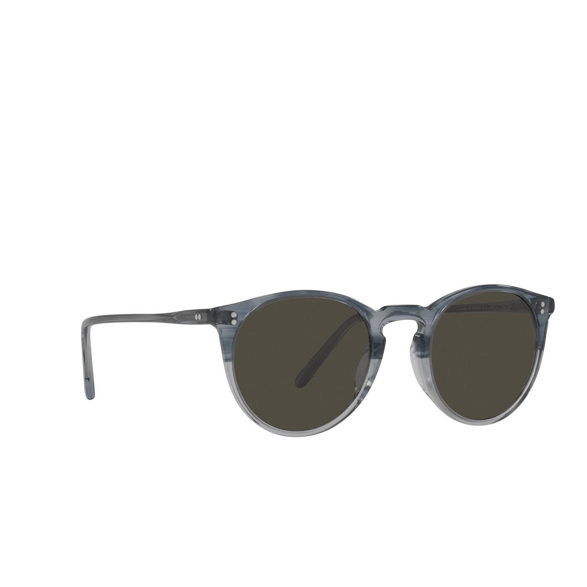 Oliver Peoples® Round Sunglasses: O'malley Sun OV5183S color Dusk Blue Vsb 1702R5 - three-quarters view.