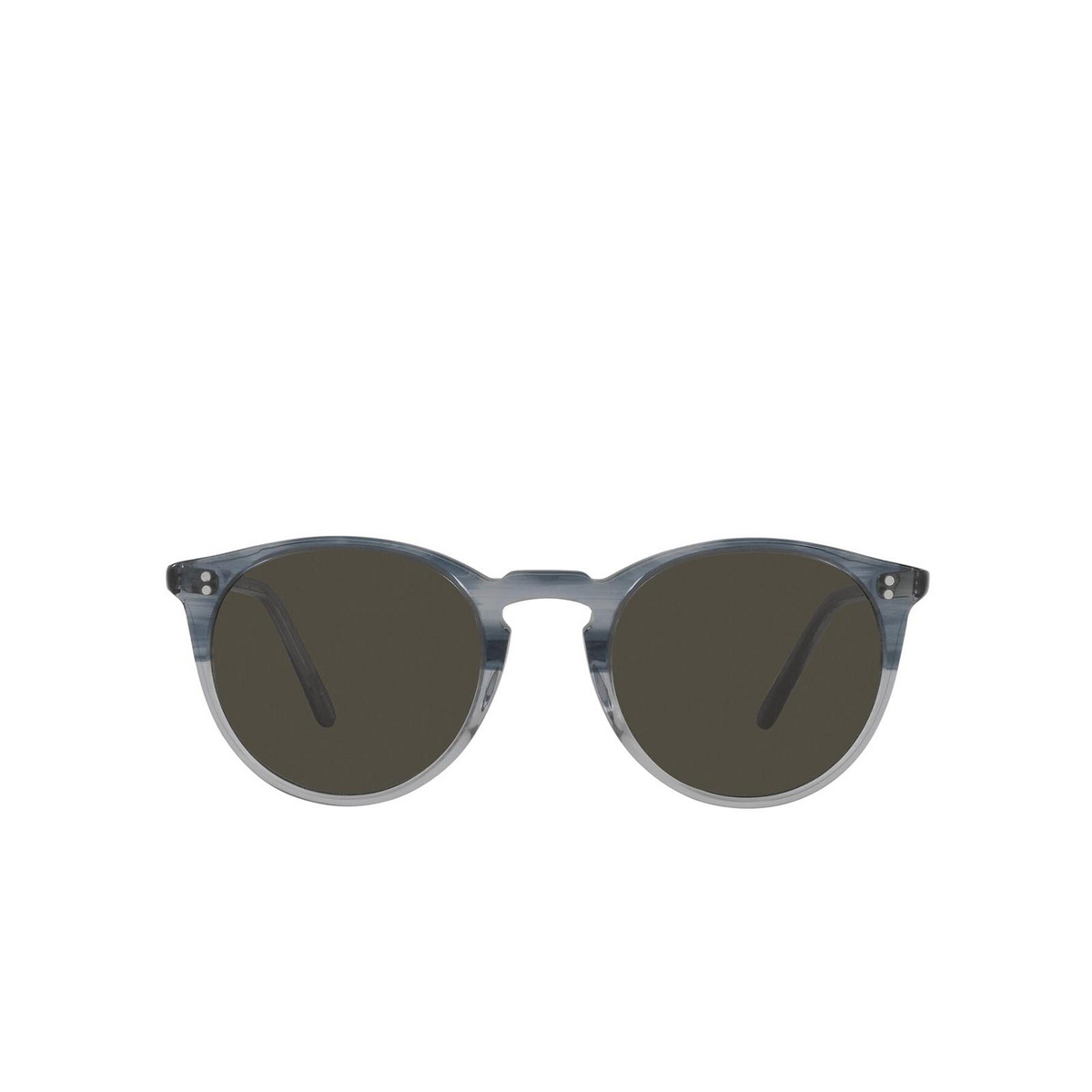 Oliver Peoples® Round Sunglasses: O'malley Sun OV5183S color Dusk Blue Vsb 1702R5 - front view.