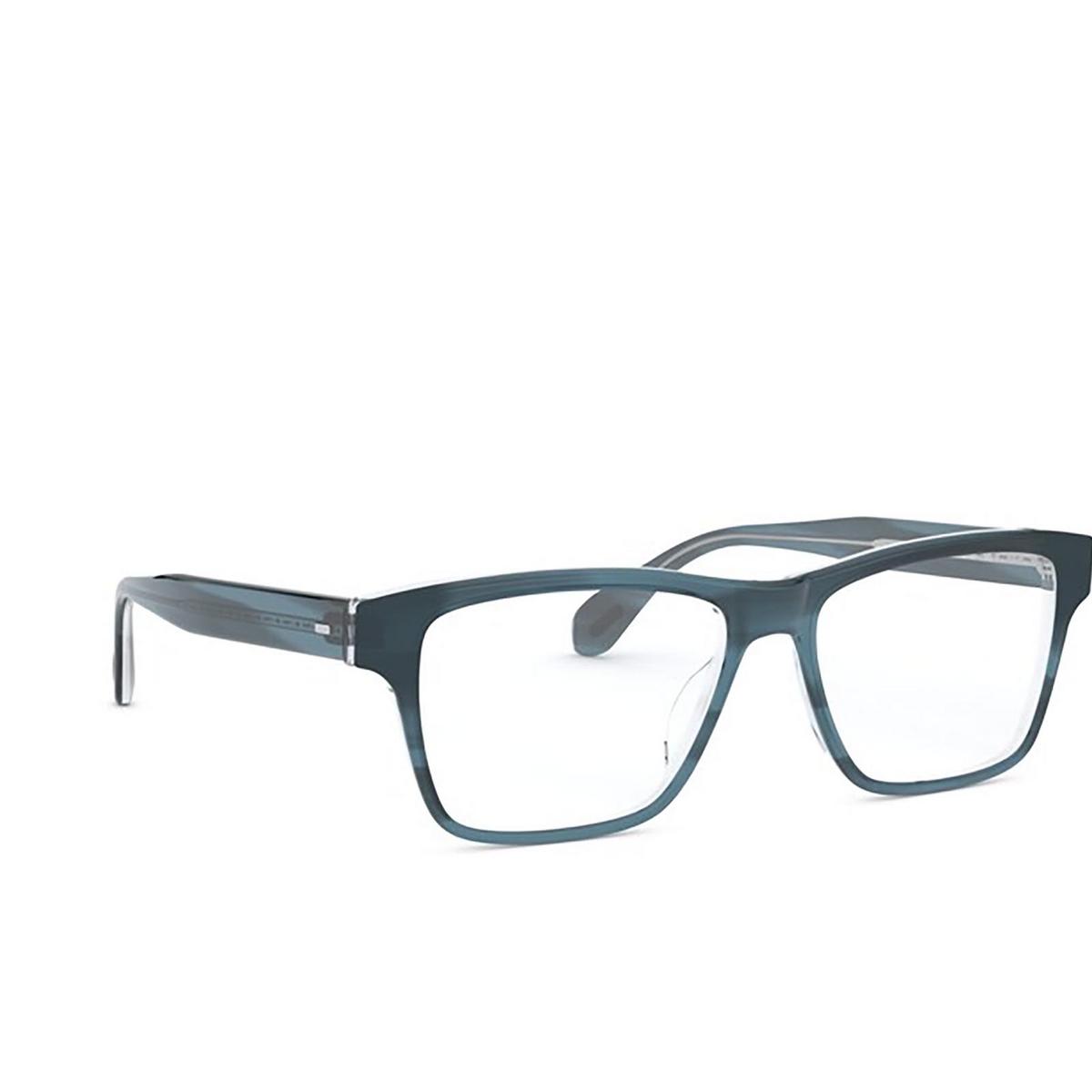 Oliver Peoples® Rectangle Eyeglasses: Osten OV5416U color Indigo Havana 1662 - three-quarters view.
