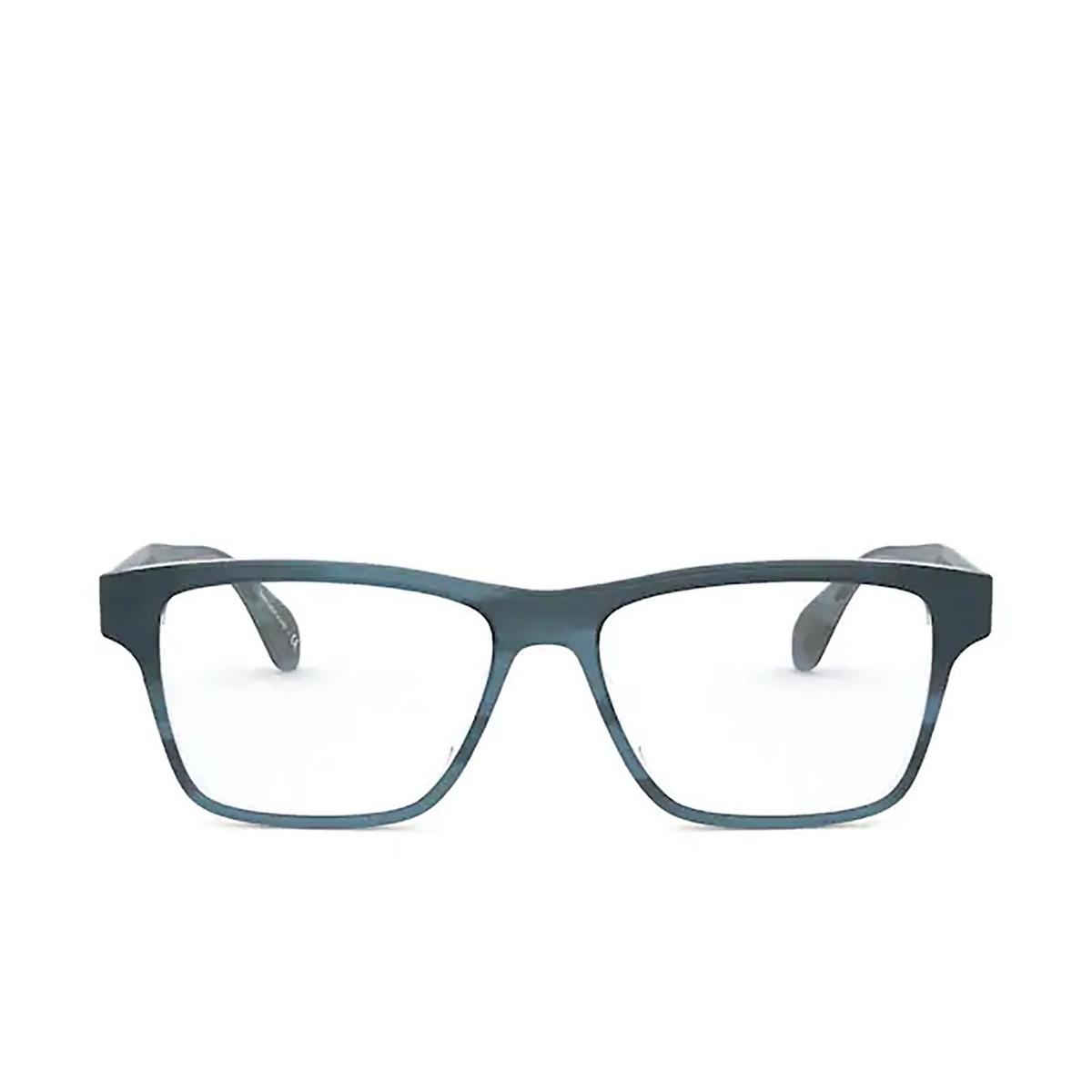 Oliver Peoples® Rectangle Eyeglasses: Osten OV5416U color Indigo Havana 1662 - front view.