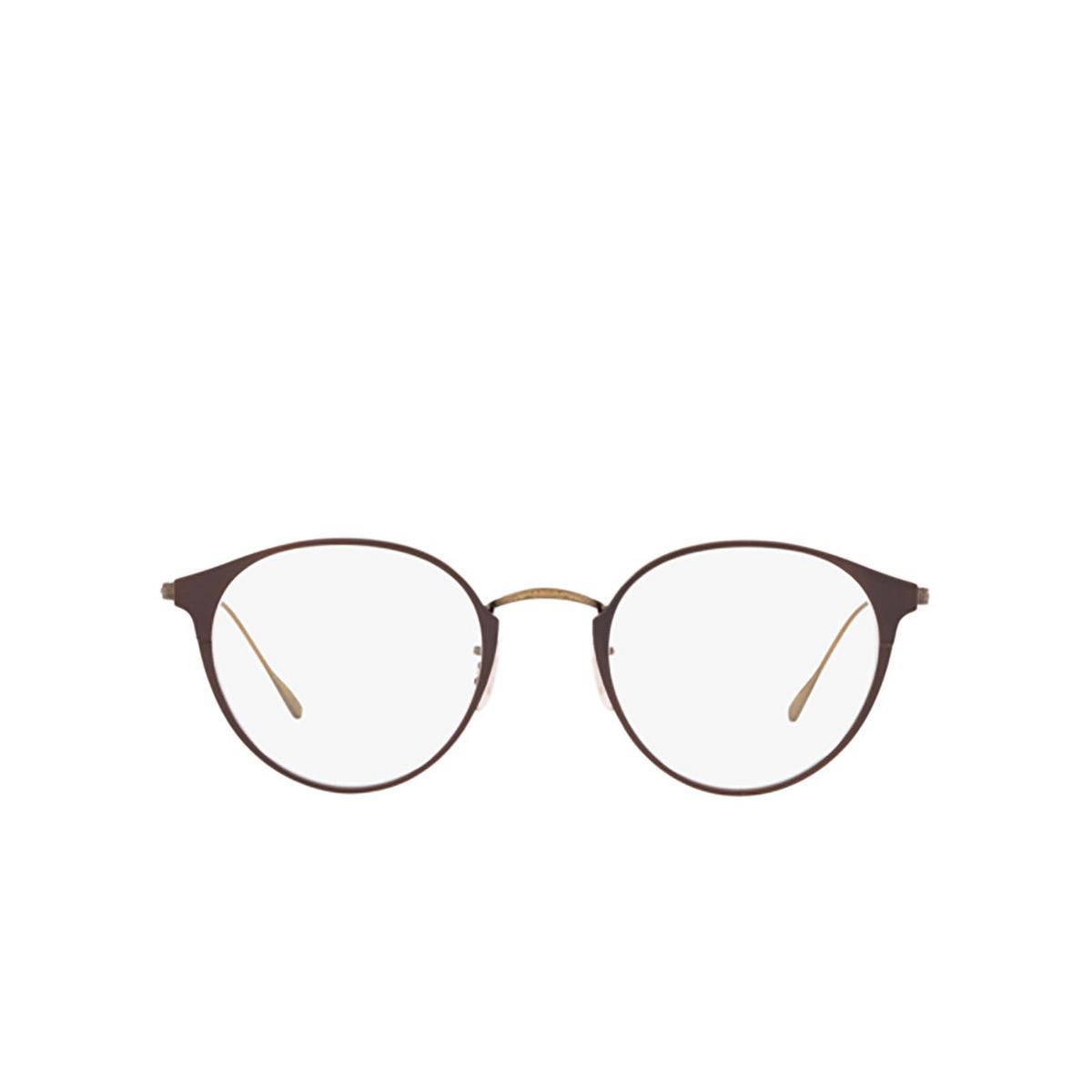 Oliver Peoples® Round Eyeglasses: Otteson OV1260TD color Birch / Antique Gold 5282.