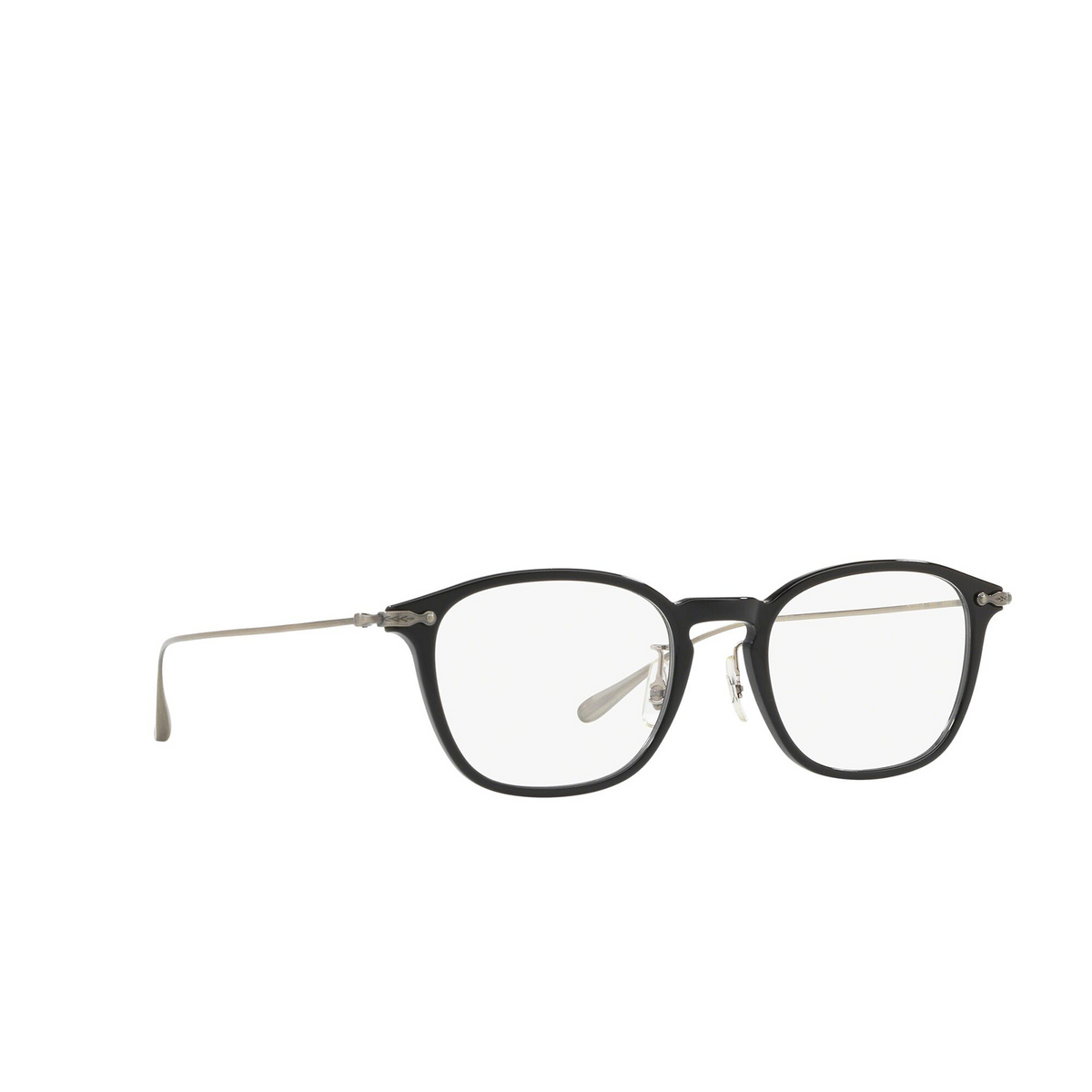 Oliver Peoples® Rectangle Eyeglasses: OV5371D color Black 1005 - three-quarters view.