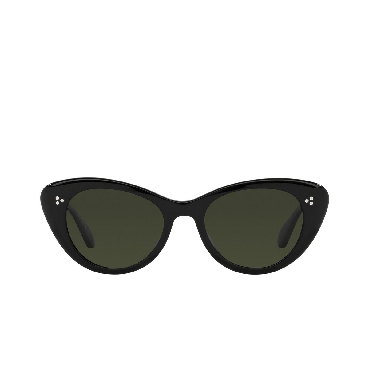 Oliver Peoples® Butterfly Sunglasses: Rishell Sun OV5415SU color Black 1005P1 - front view.