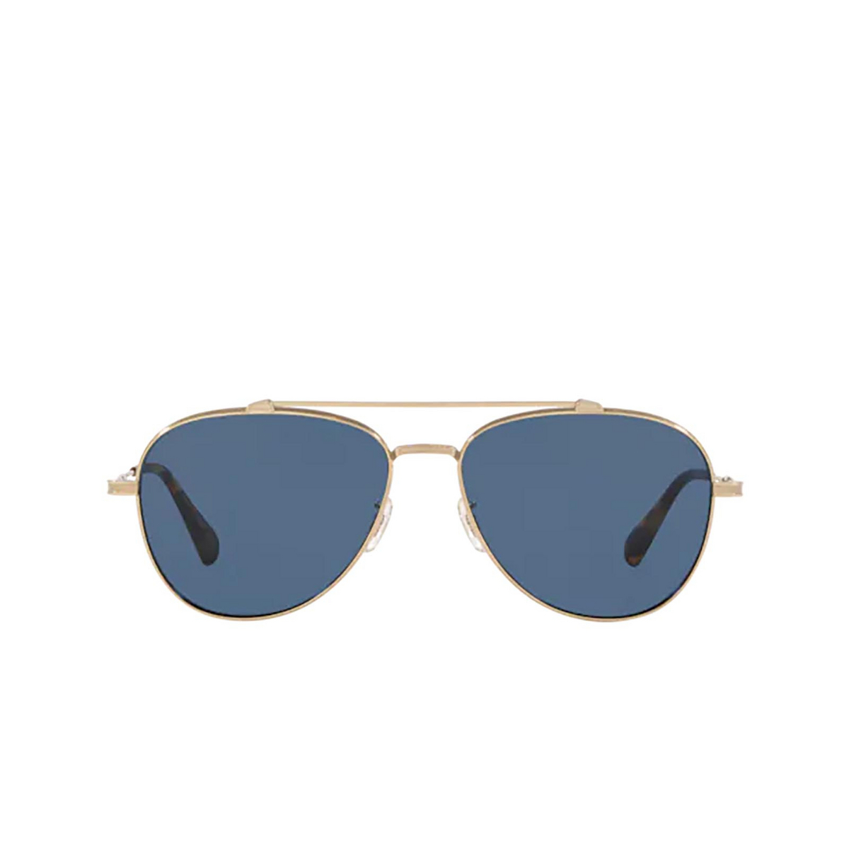 Oliver Peoples® Aviator Sunglasses: Rikson OV1266ST color Soft Gold 503580 - front view.
