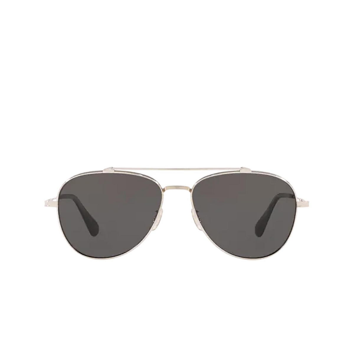 Oliver Peoples® Aviator Sunglasses: Rikson OV1266ST color Silver 503687 - front view.