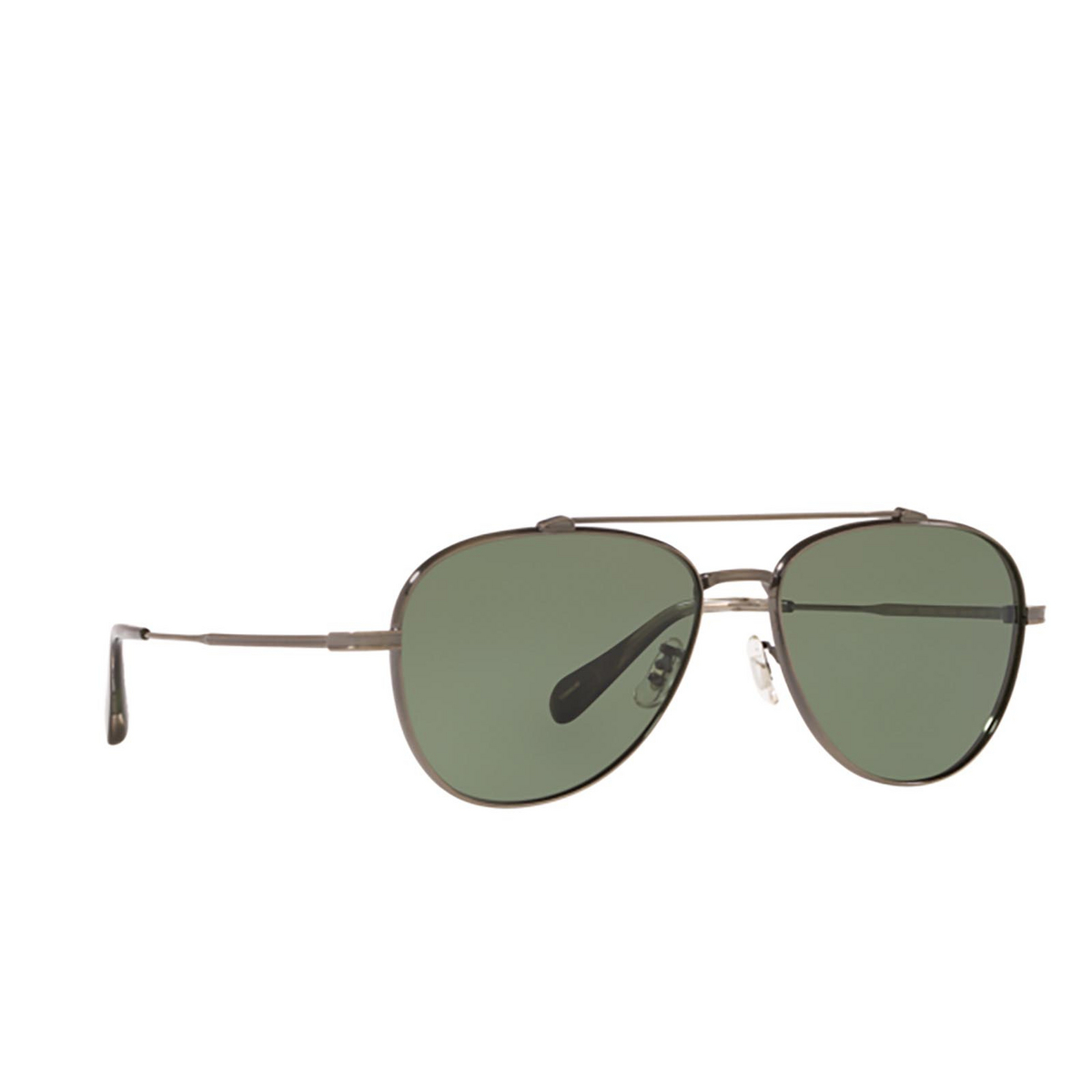 Oliver Peoples® Aviator Sunglasses: Rikson OV1266ST color Antique Pewter 50769A - three-quarters view.