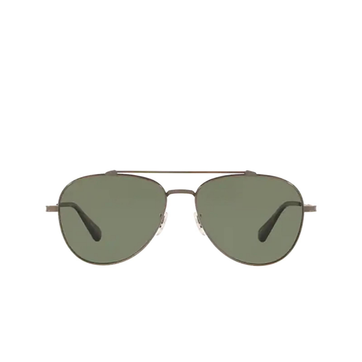 Oliver Peoples® Aviator Sunglasses: Rikson OV1266ST color Antique Pewter 50769A - front view.