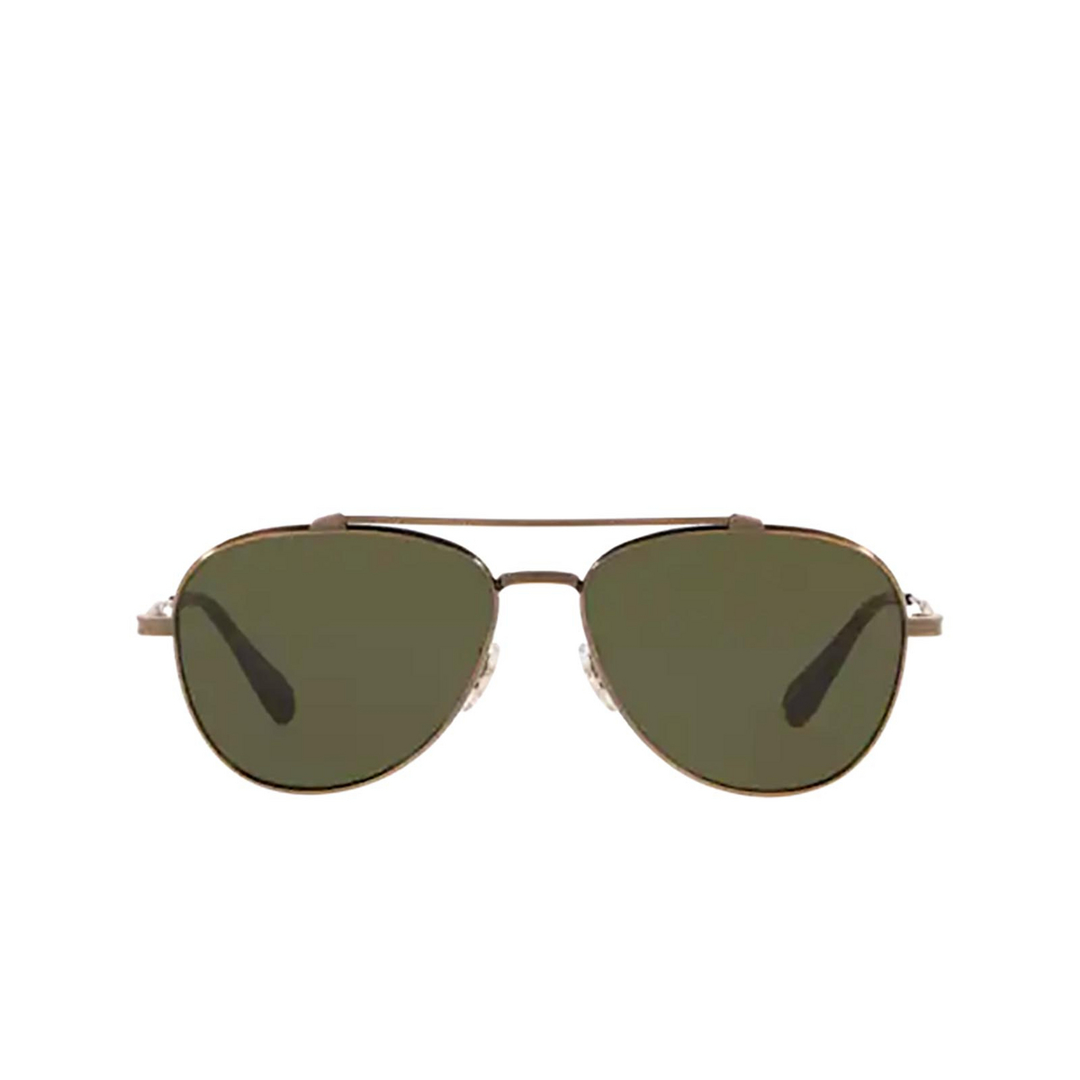 Oliver Peoples® Aviator Sunglasses: Rikson OV1266ST color Antique Gold 528471 - front view.