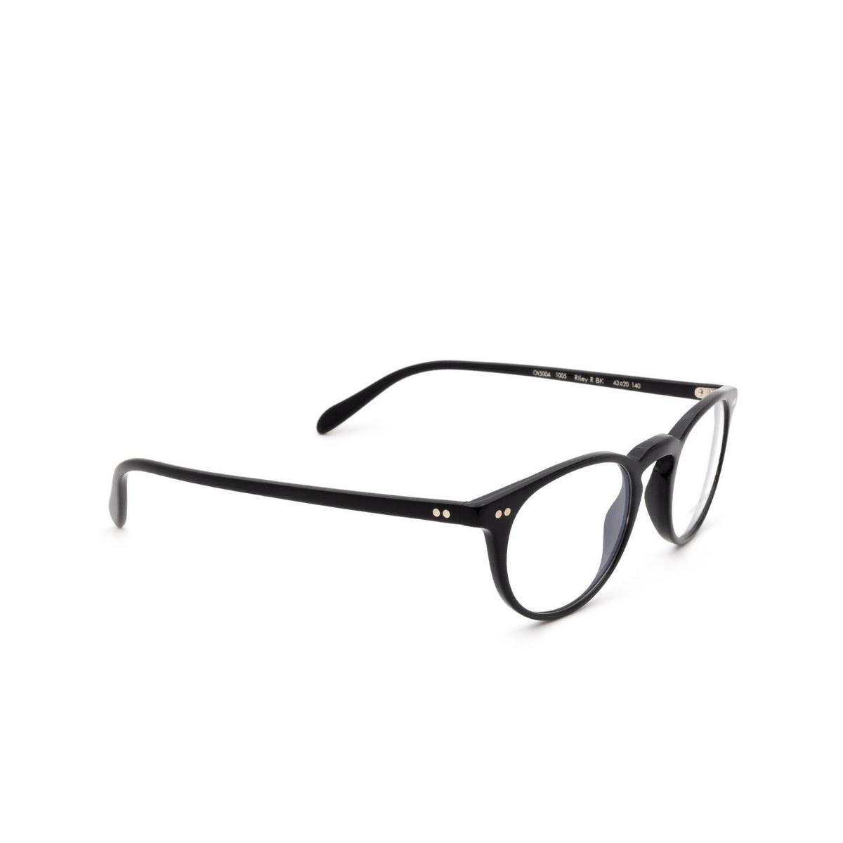 Oliver Peoples® Round Eyeglasses: Riley-r OV5004 color Black 1005.
