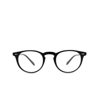 Oliver Peoples® Round Eyeglasses: Riley-r OV5004 color Black 1005.