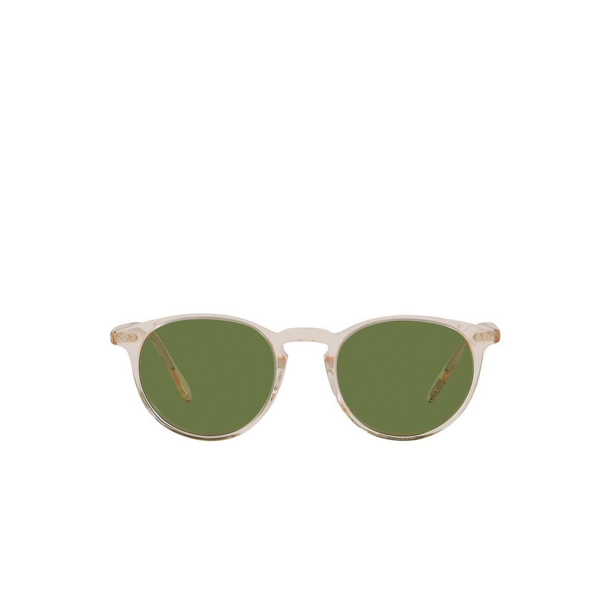 Oliver Peoples® Round Sunglasses: Riley Sun OV5004SU color Buff 109452 - front view.