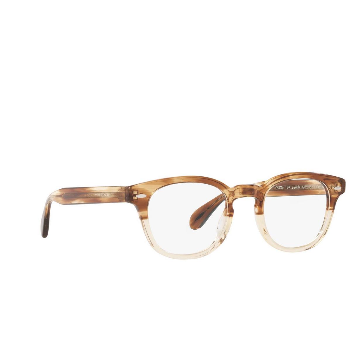 Oliver Peoples® Square Eyeglasses: Sheldrake OV5036 color Honey Vsb 1674.