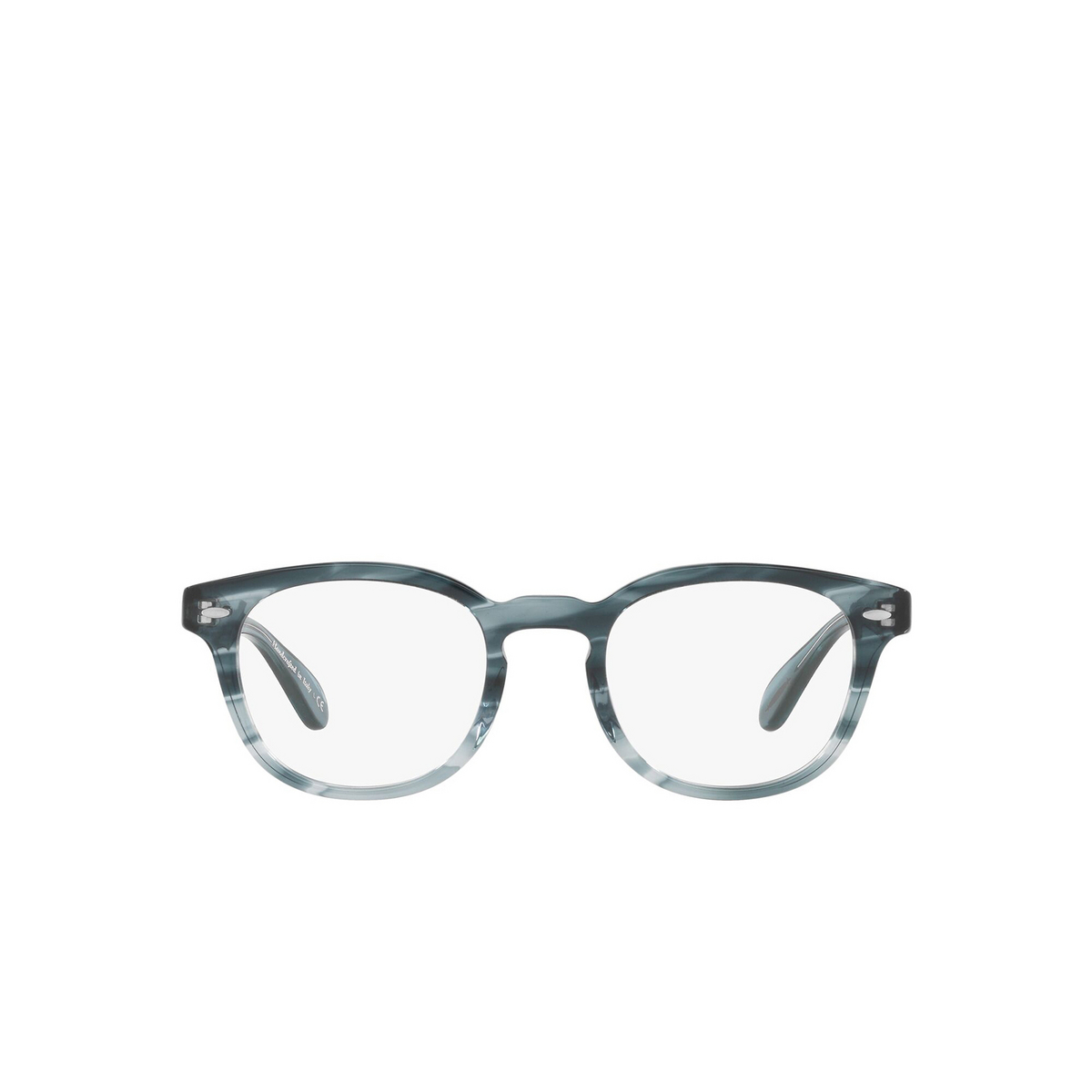 Oliver Peoples® Square Eyeglasses: Sheldrake OV5036 color Washed Lapis 1704 - front view.