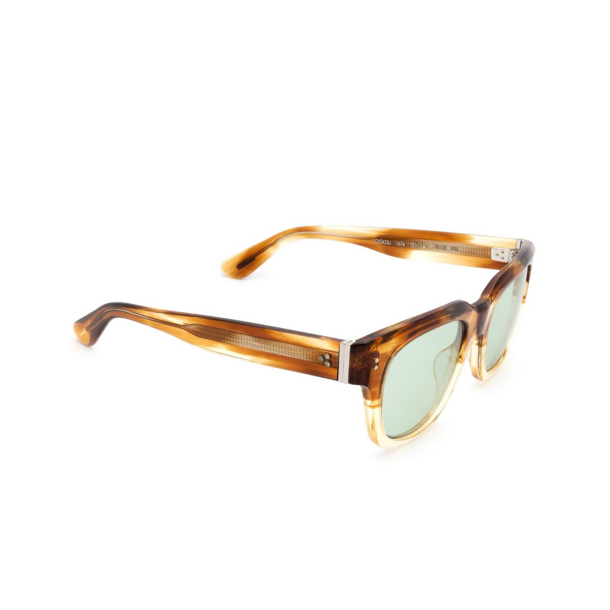 Oliver Peoples® Square Sunglasses: Shiller OV5433U color Honey Vsb 1674.