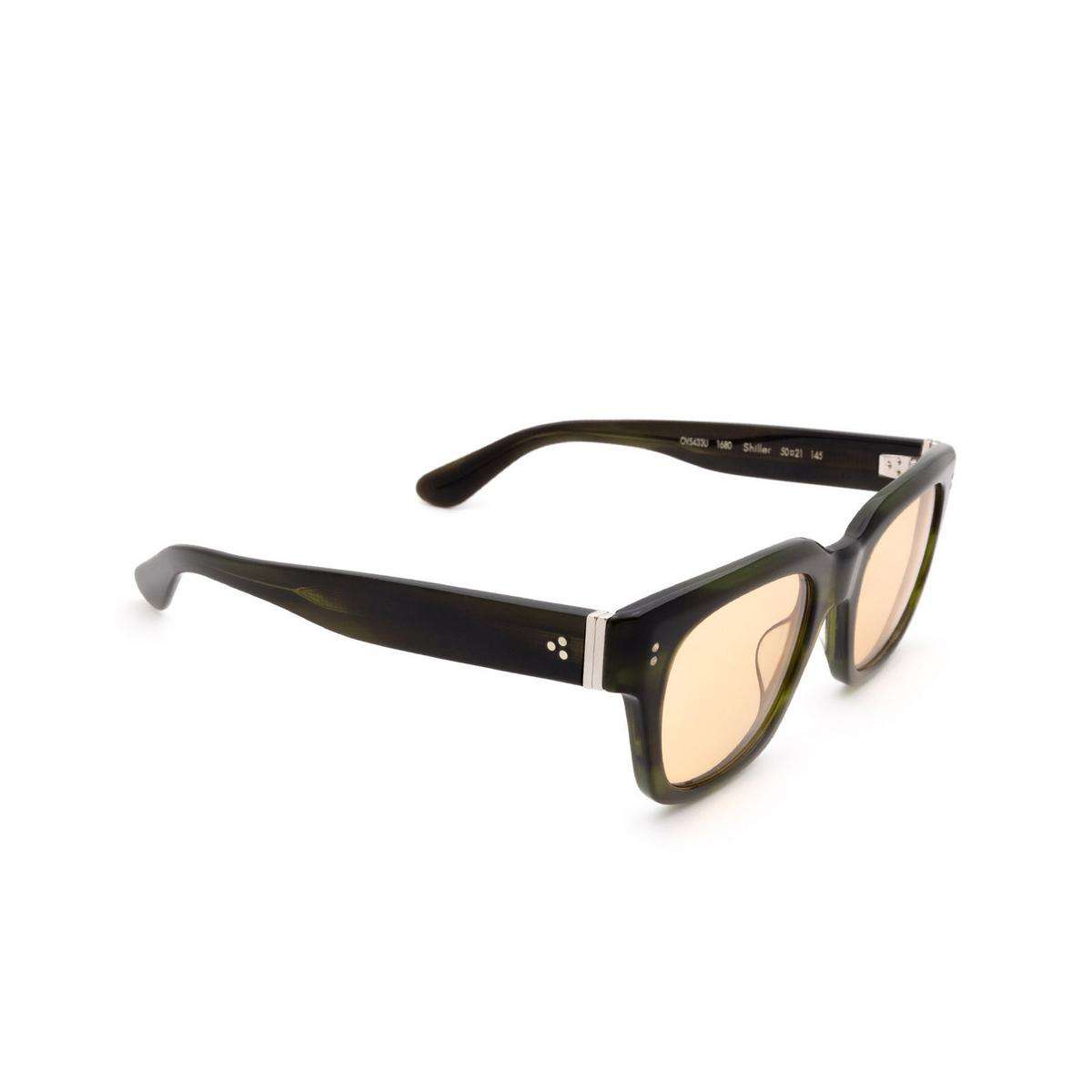 Oliver Peoples® Square Sunglasses: Shiller OV5433U color Emerald Bark 1680.