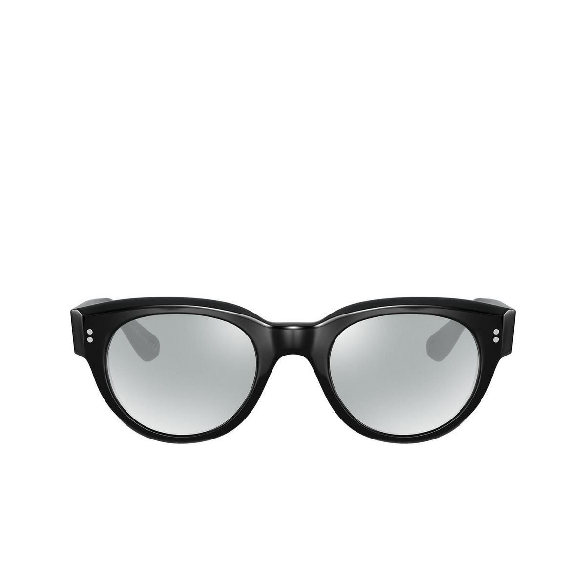 Oliver Peoples® Irregular Eyeglasses: Tannen OV5434D color Black 1005.