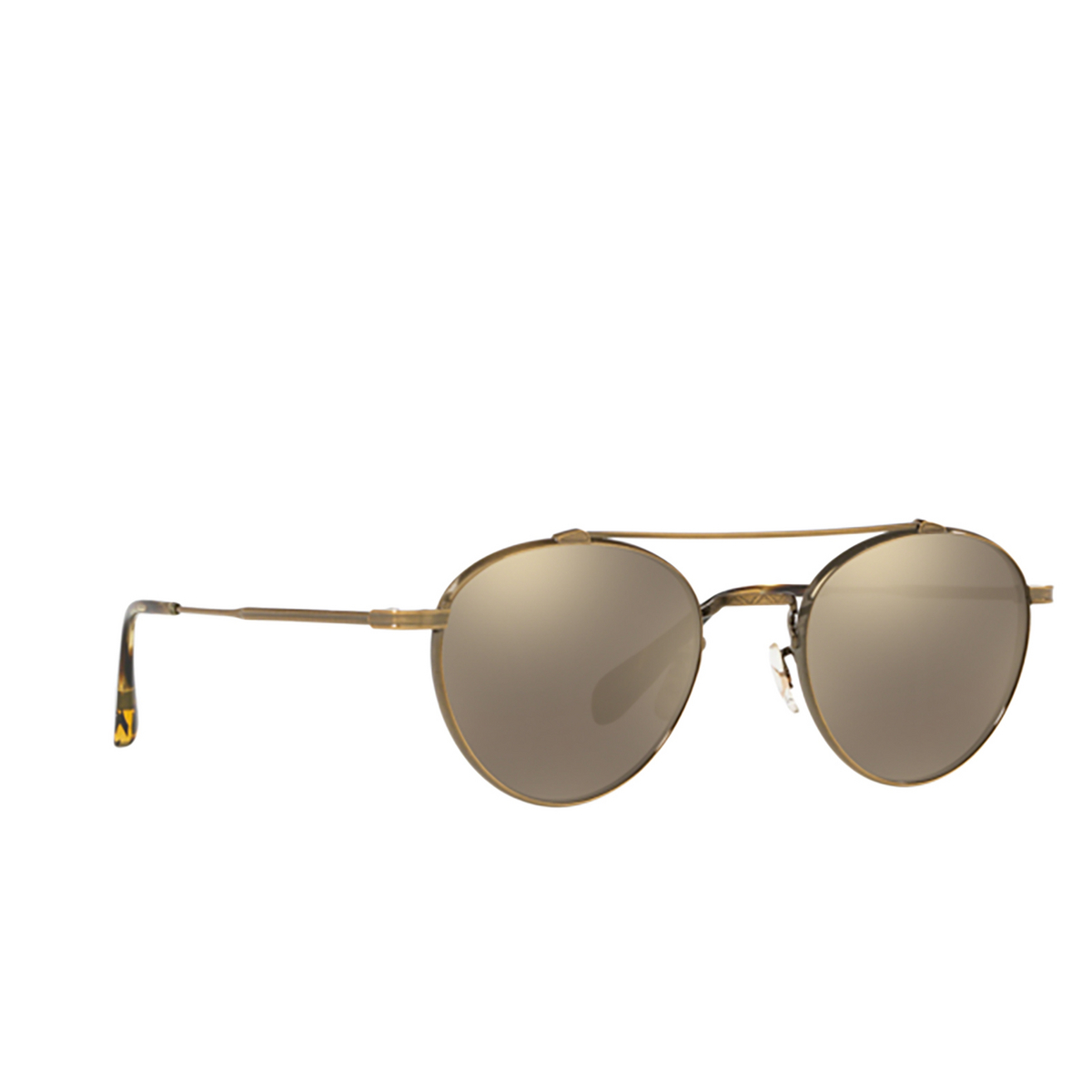 Oliver Peoples® Round Sunglasses: Watts Sun OV1223ST color Antique Gold 51246G.