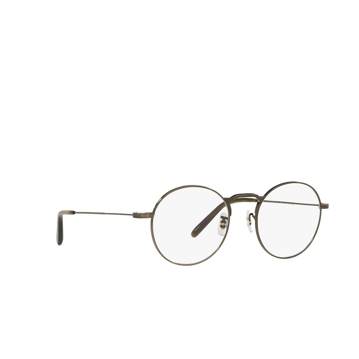 Oliver Peoples® Round Eyeglasses: Weslie OV1282T color Antique Gold 5284 - three-quarters view.