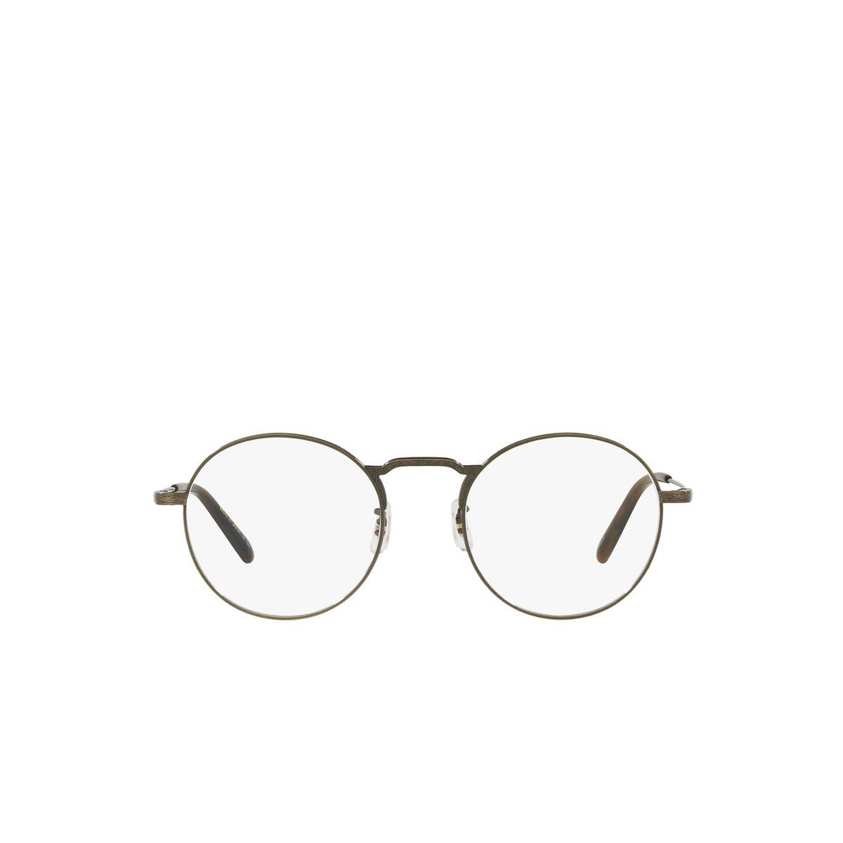 Oliver Peoples® Round Eyeglasses: Weslie OV1282T color Antique Gold 5284 - front view.