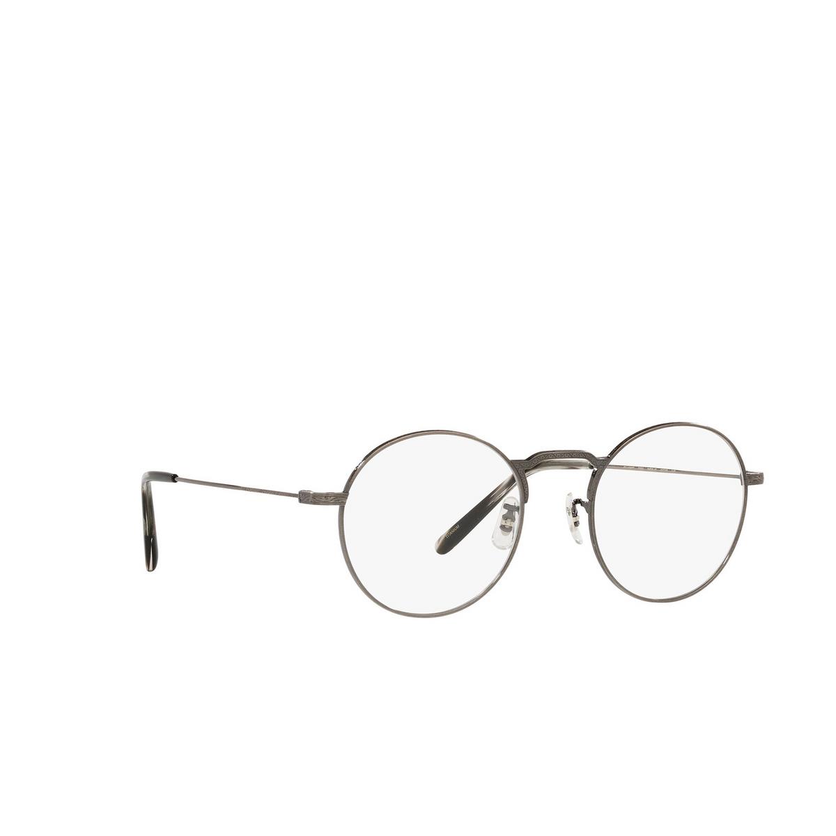 Oliver Peoples® Round Eyeglasses: Weslie OV1282T color Antique Pewter 5289 - three-quarters view.