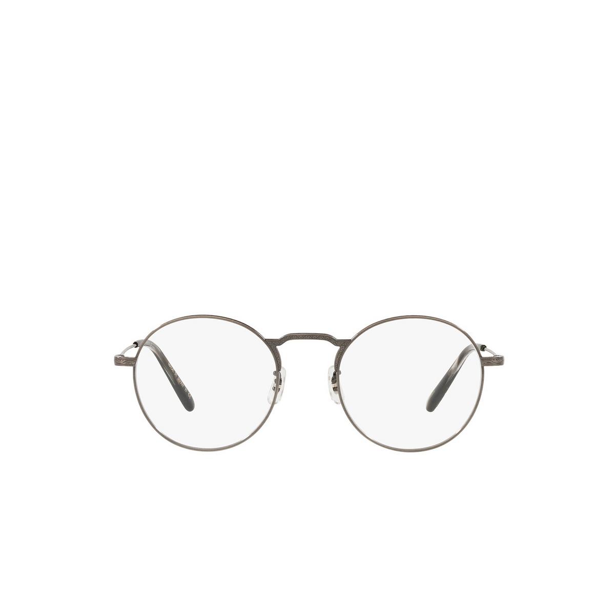 Oliver Peoples® Round Eyeglasses: Weslie OV1282T color Antique Pewter 5289 - front view.