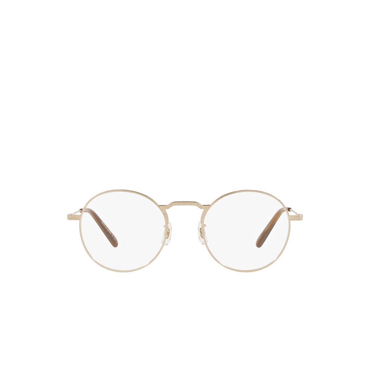 Oliver Peoples® Round Eyeglasses: Weslie OV1282T color White Gold 5292 - front view.