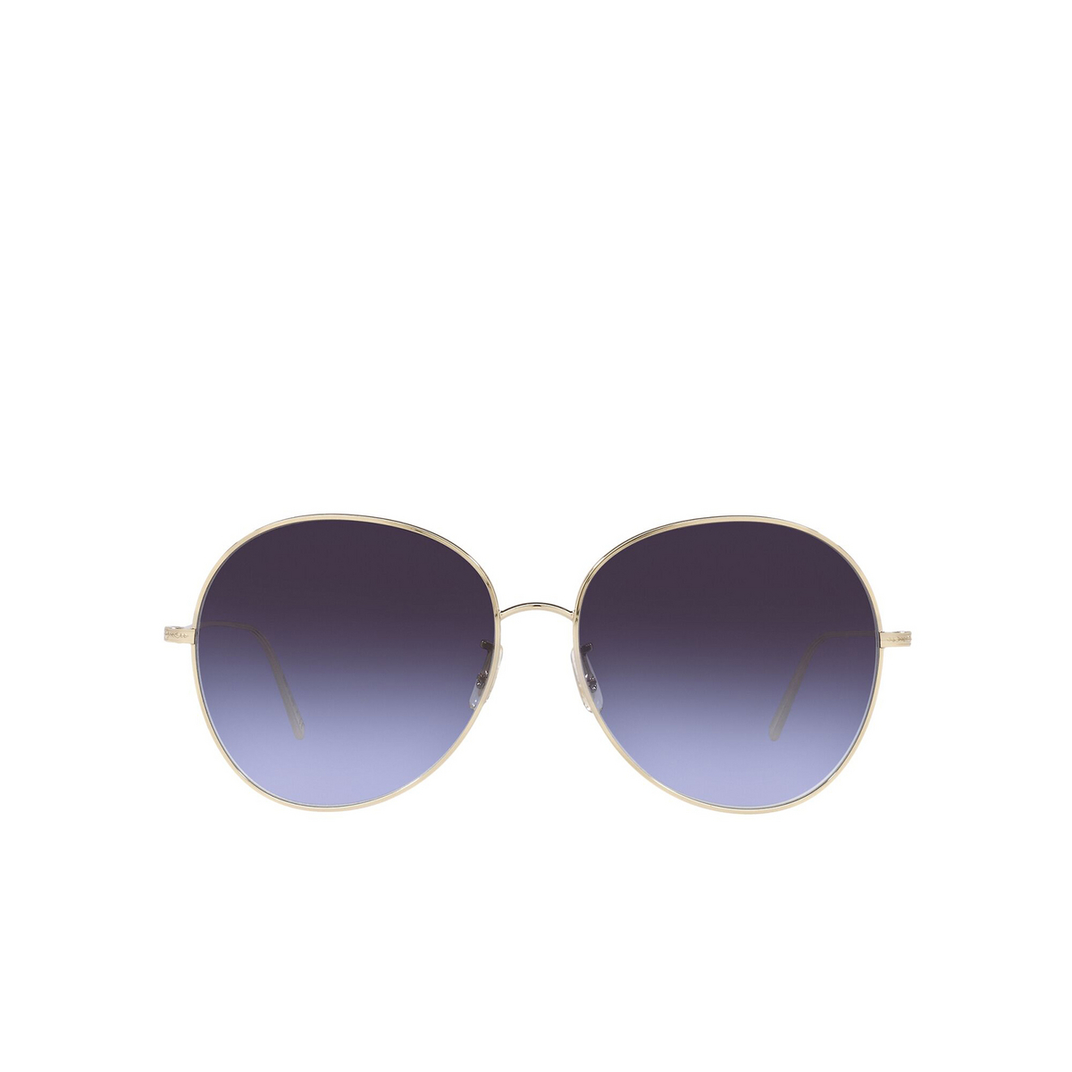 Oliver Peoples® Butterfly Sunglasses: Ysela OV1289S color Soft Gold 503579 - front view.