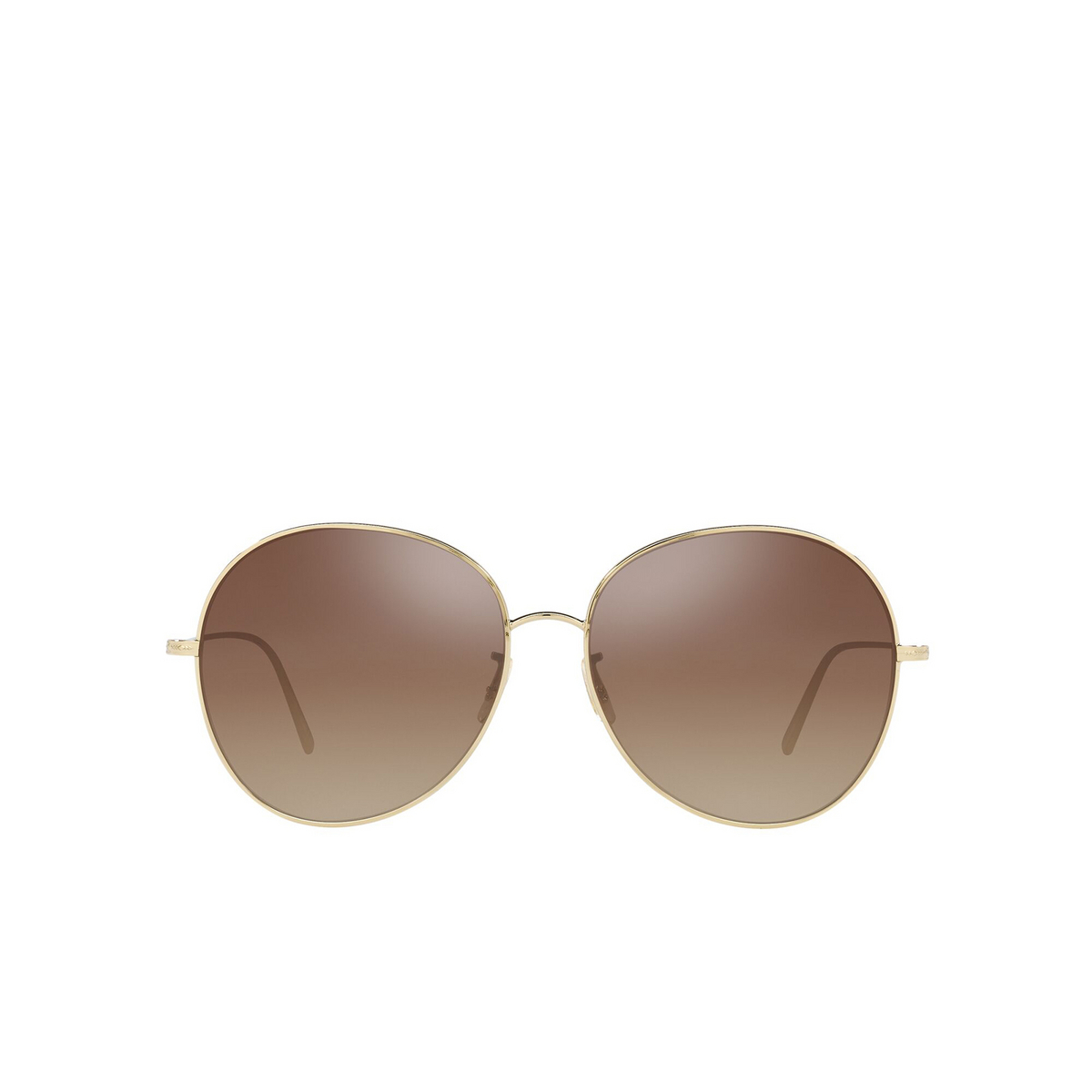 Oliver Peoples® Butterfly Sunglasses: Ysela OV1289S color Soft Gold 5035Q1 - front view.