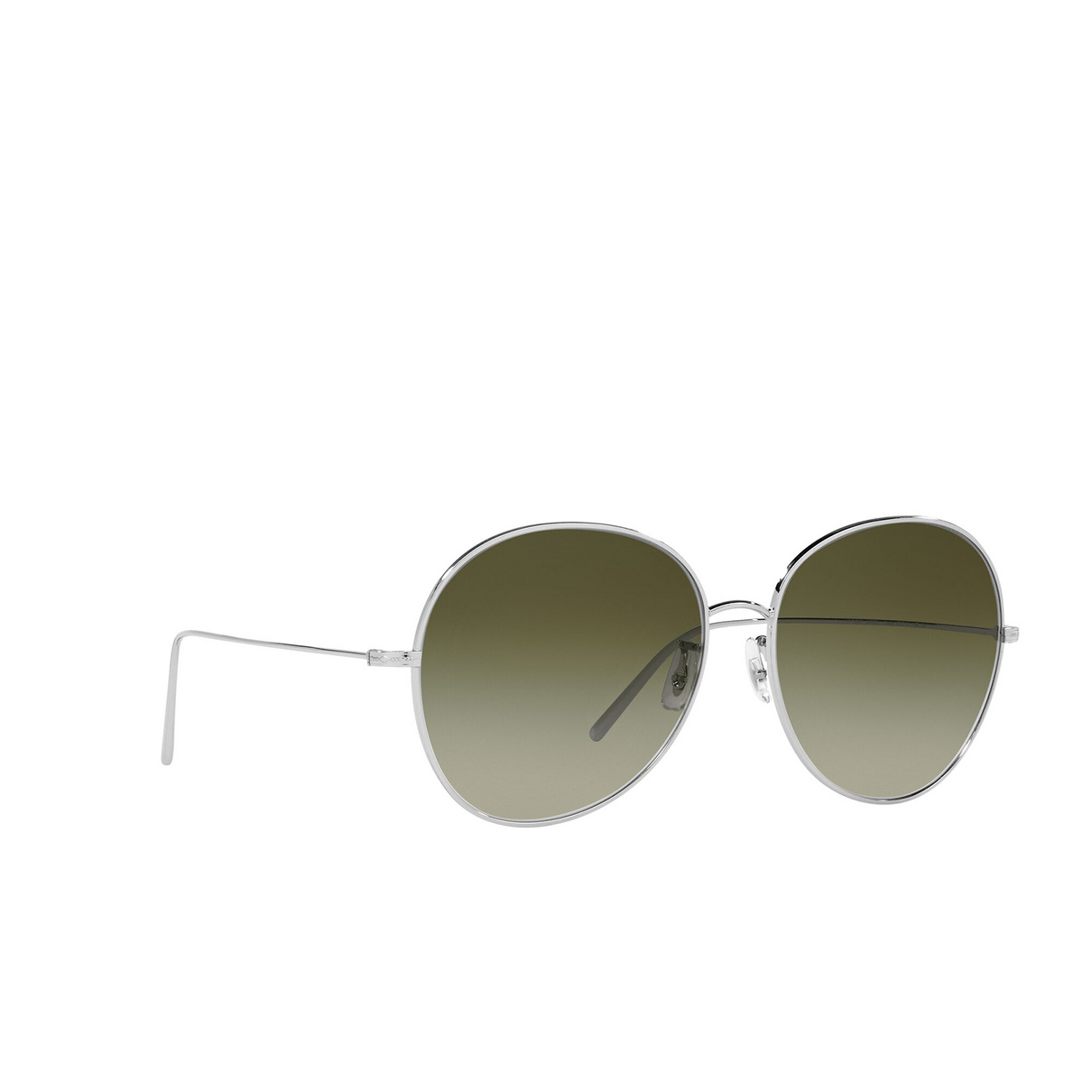 Oliver Peoples® Butterfly Sunglasses: Ysela OV1289S color Silver 50368E - three-quarters view.