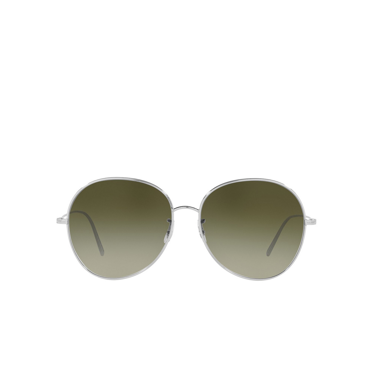 Oliver Peoples® Butterfly Sunglasses: Ysela OV1289S color Silver 50368E - front view.