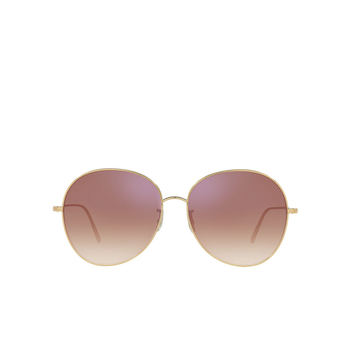Oliver Peoples® Butterfly Sunglasses: Ysela OV1289S color Rose Gold 50373I - front view.
