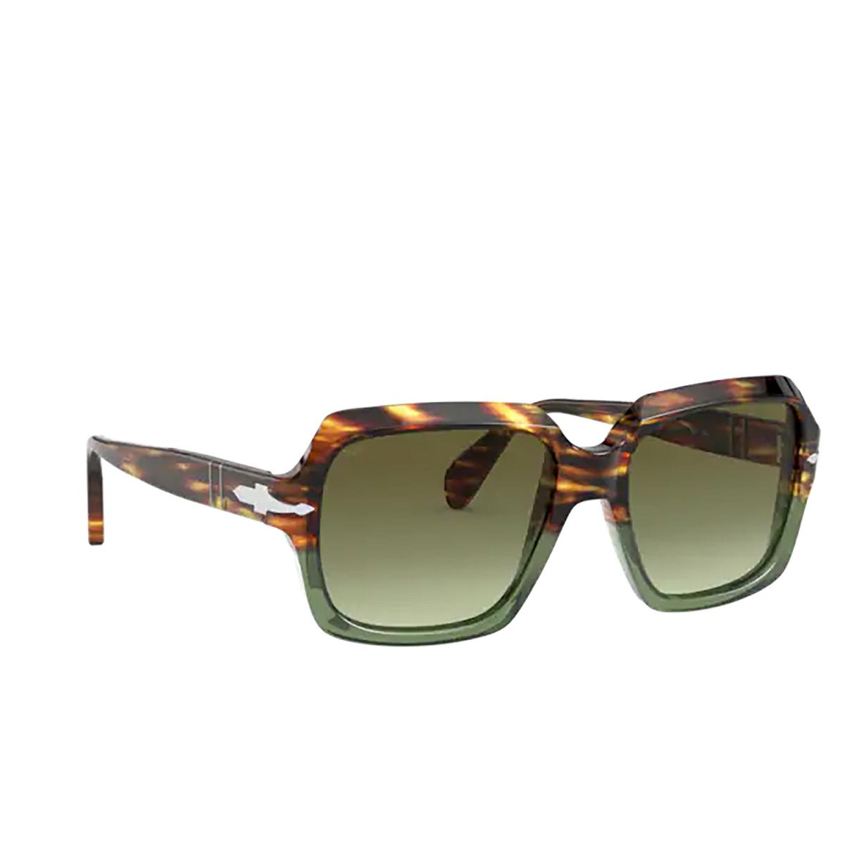 Persol® Square Sunglasses: PO0581S color Brown Tortoise & Opal Green 1122A6.
