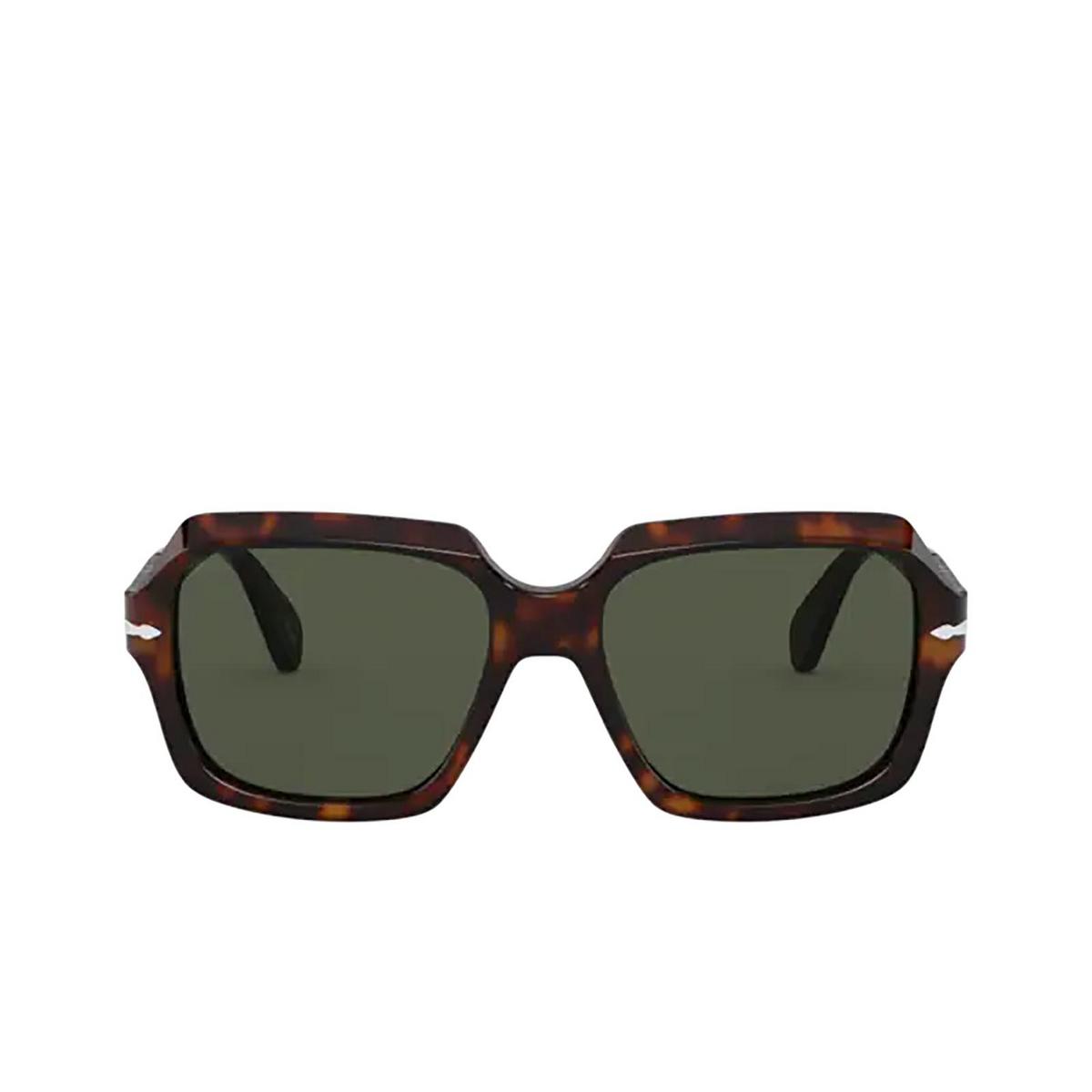 Persol® Square Sunglasses: PO0581S color Havana 24/31 - front view.