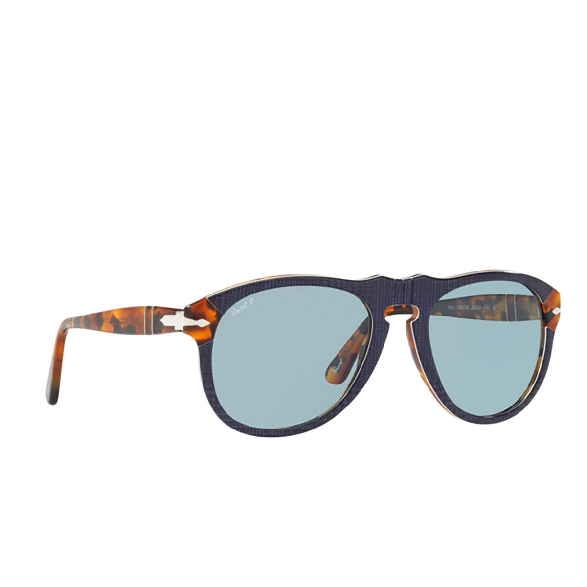 Persol® Aviator Sunglasses: PO0649 color Blue Prince Of Wales & Havana 10903R.