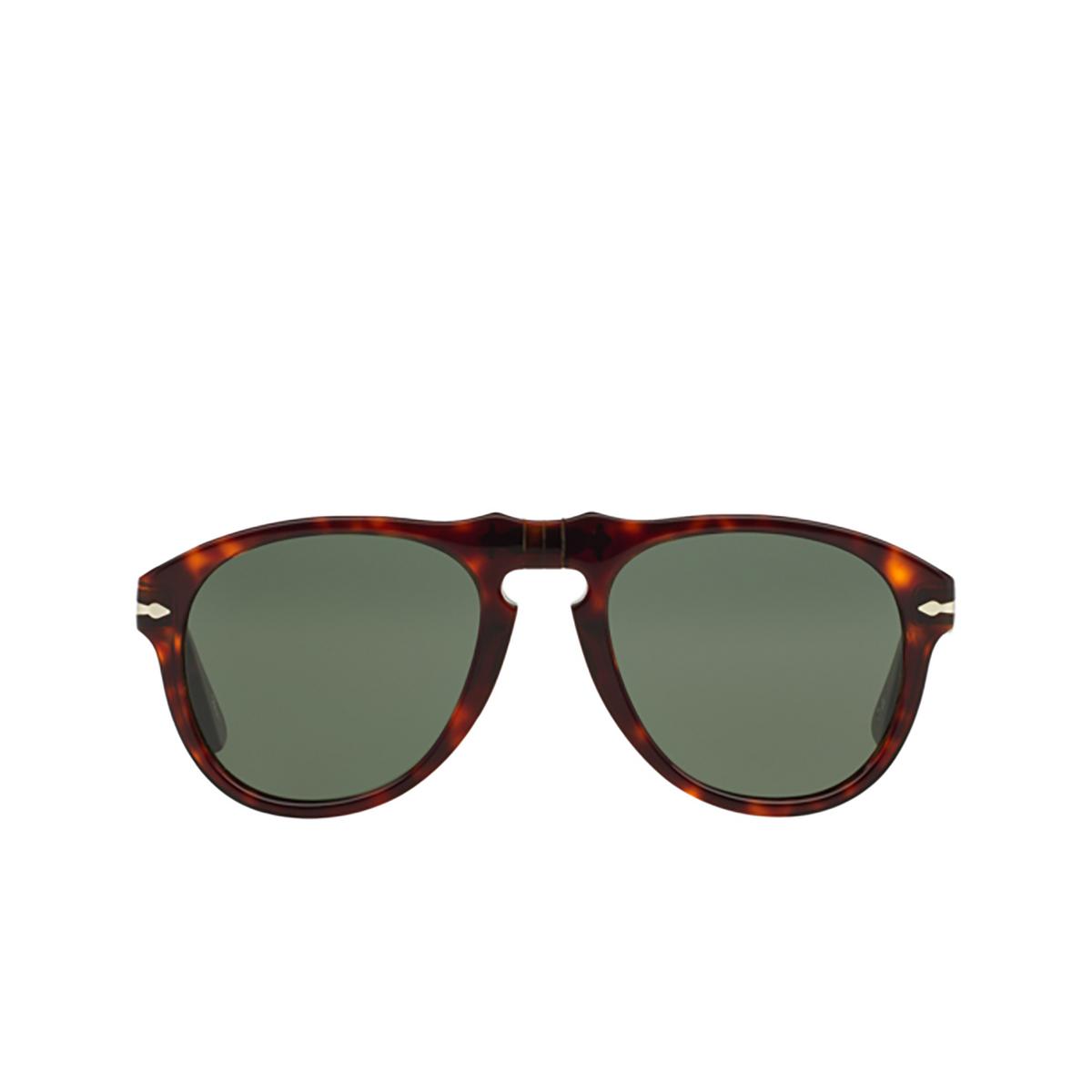 Persol® Aviator Sunglasses: PO0649 color Havana 24/31 - front view.